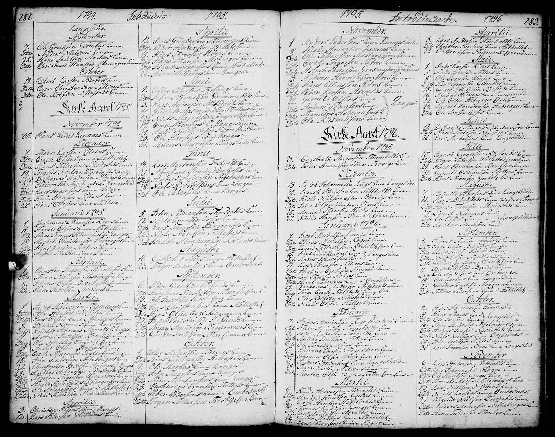 SAKO, Bamble kirkebøker, F/Fa/L0002: Ministerialbok nr. I 2, 1775-1814, s. 282-283