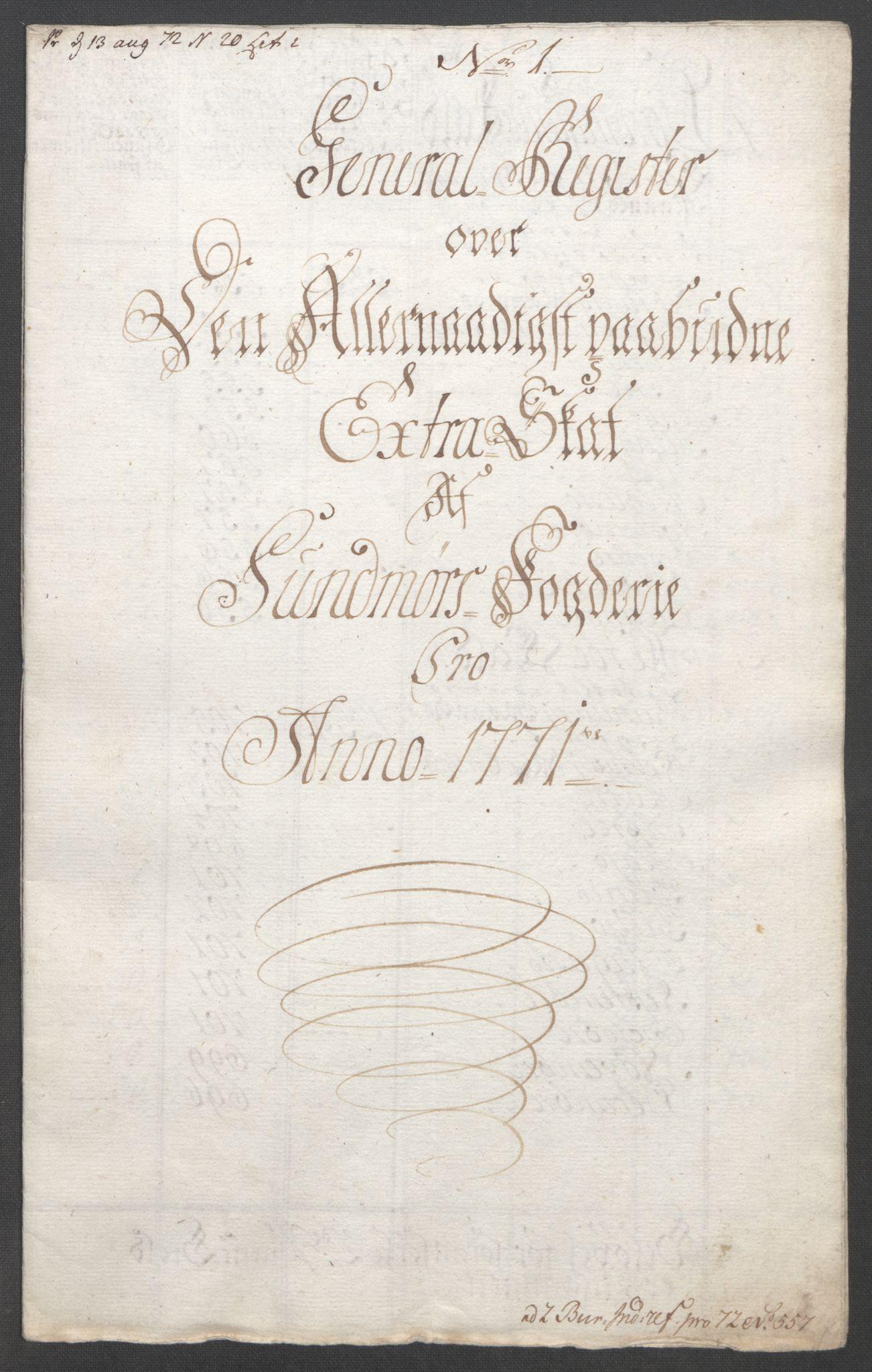 RA, Rentekammeret inntil 1814, Reviderte regnskaper, Fogderegnskap, R54/L3645: Ekstraskatten Sunnmøre, 1762-1772, s. 204