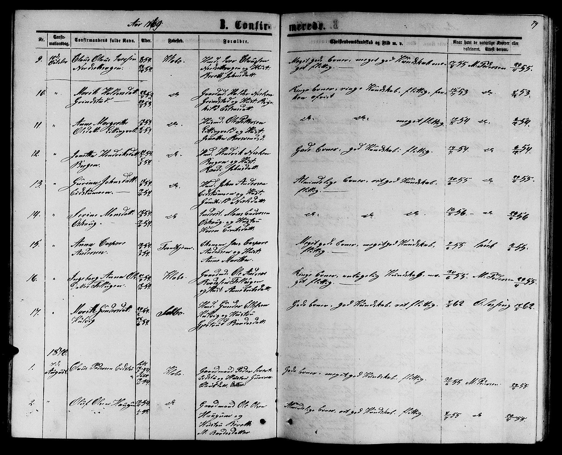 SAT, Ministerialprotokoller, klokkerbøker og fødselsregistre - Sør-Trøndelag, 618/L0451: Klokkerbok nr. 618C02, 1865-1883, s. 79