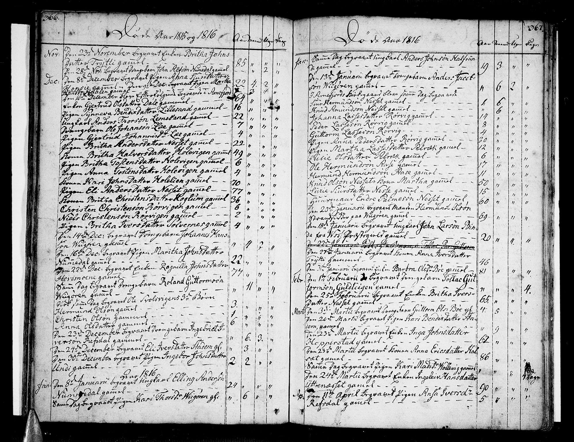 SAB, Vik Sokneprestembete, Ministerialbok nr. A 5, 1787-1820, s. 366-367