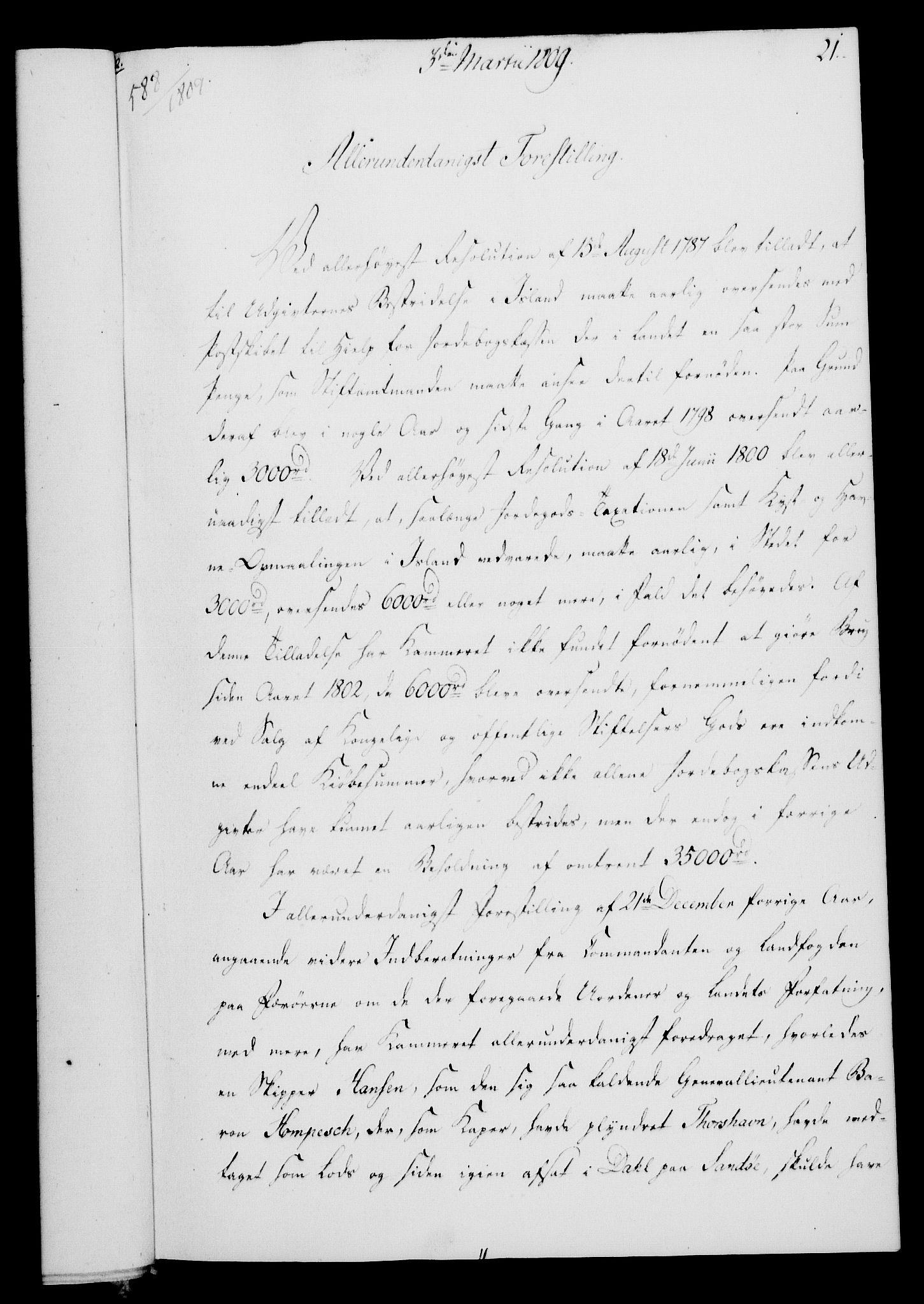 RA, Rentekammeret, Kammerkanselliet, G/Gf/Gfa/L0091: Norsk relasjons- og resolusjonsprotokoll (merket RK 52.91), 1809, s. 117