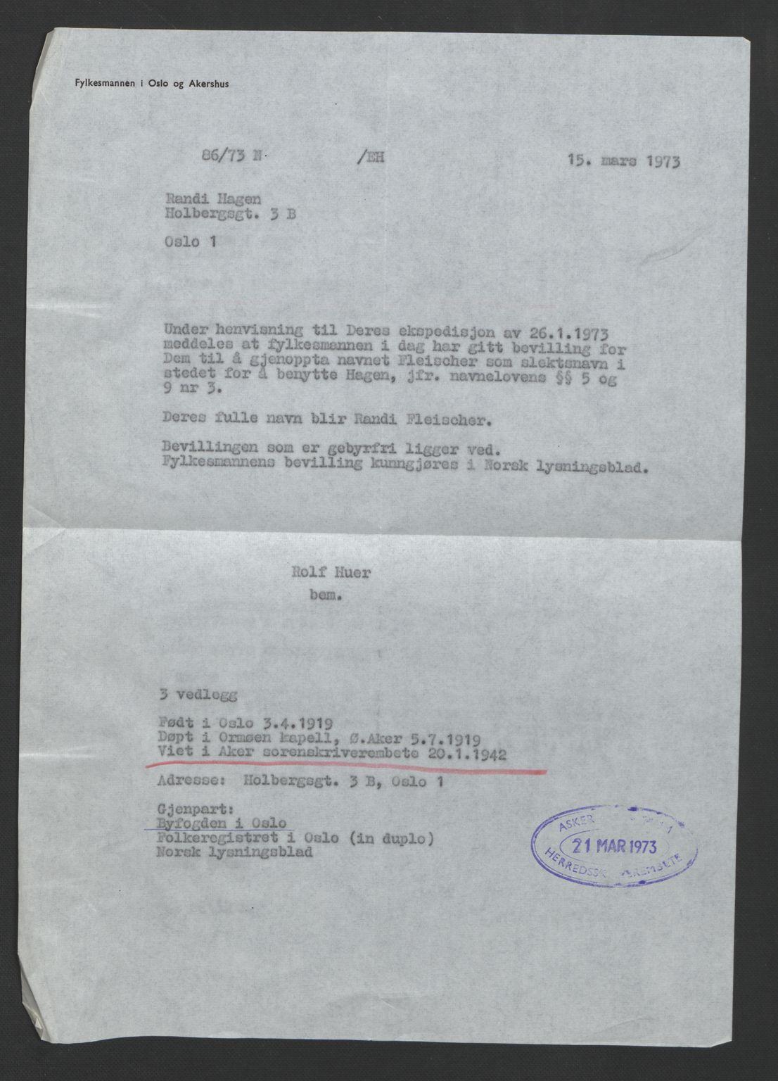SAO, Aker sorenskriveri, L/Lc/Lcb/L0014: Vigselprotokoll, 1941-1942, s. upaginert