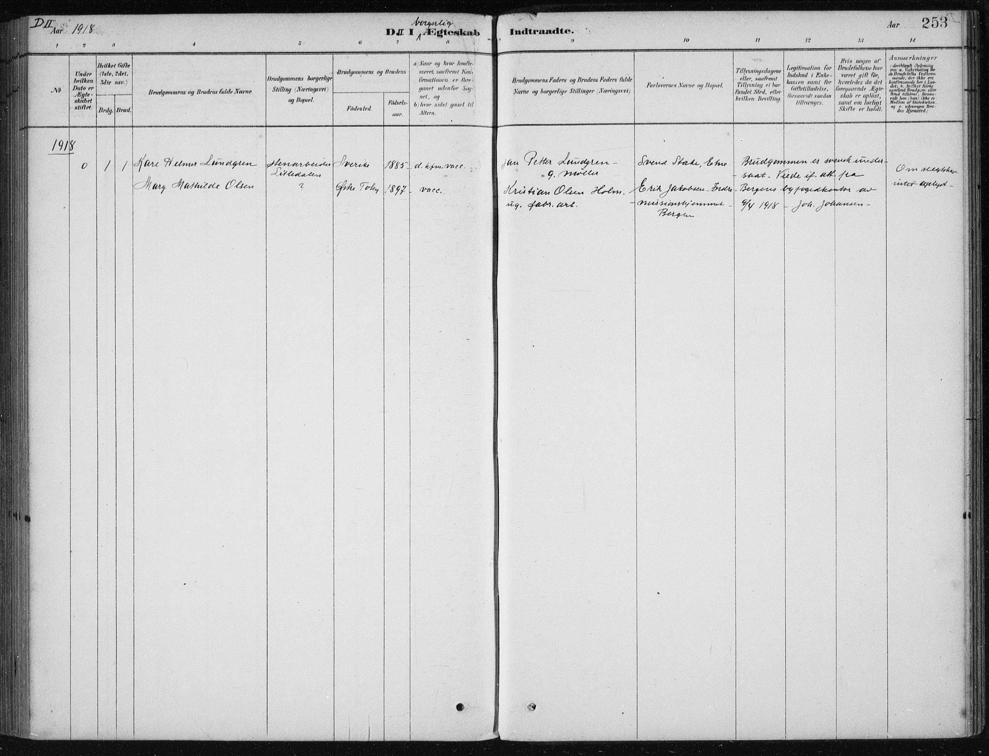 SAB, Etne Sokneprestembete, H/Haa: Ministerialbok nr. D  1, 1879-1919, s. 253