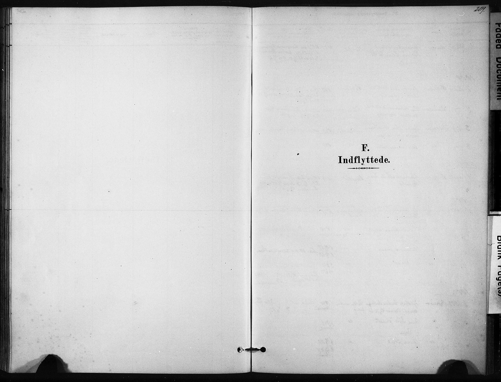 SAT, Ministerialprotokoller, klokkerbøker og fødselsregistre - Sør-Trøndelag, 631/L0512: Ministerialbok nr. 631A01, 1879-1912, s. 209