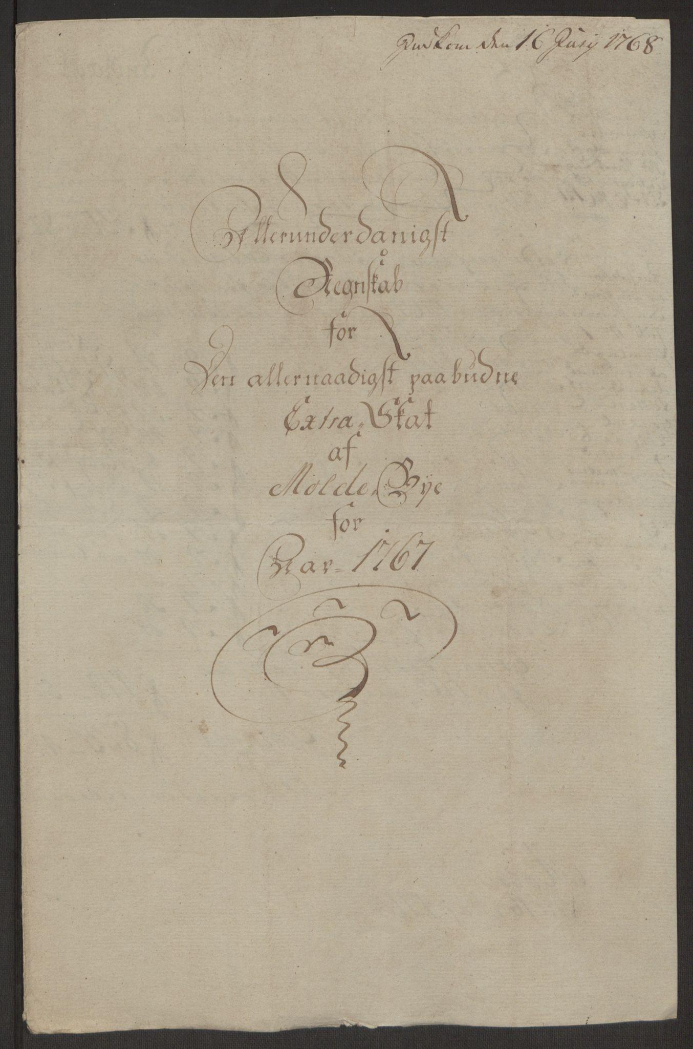 RA, Rentekammeret inntil 1814, Reviderte regnskaper, Byregnskaper, R/Rq/L0487: [Q1] Kontribusjonsregnskap, 1762-1772, s. 141