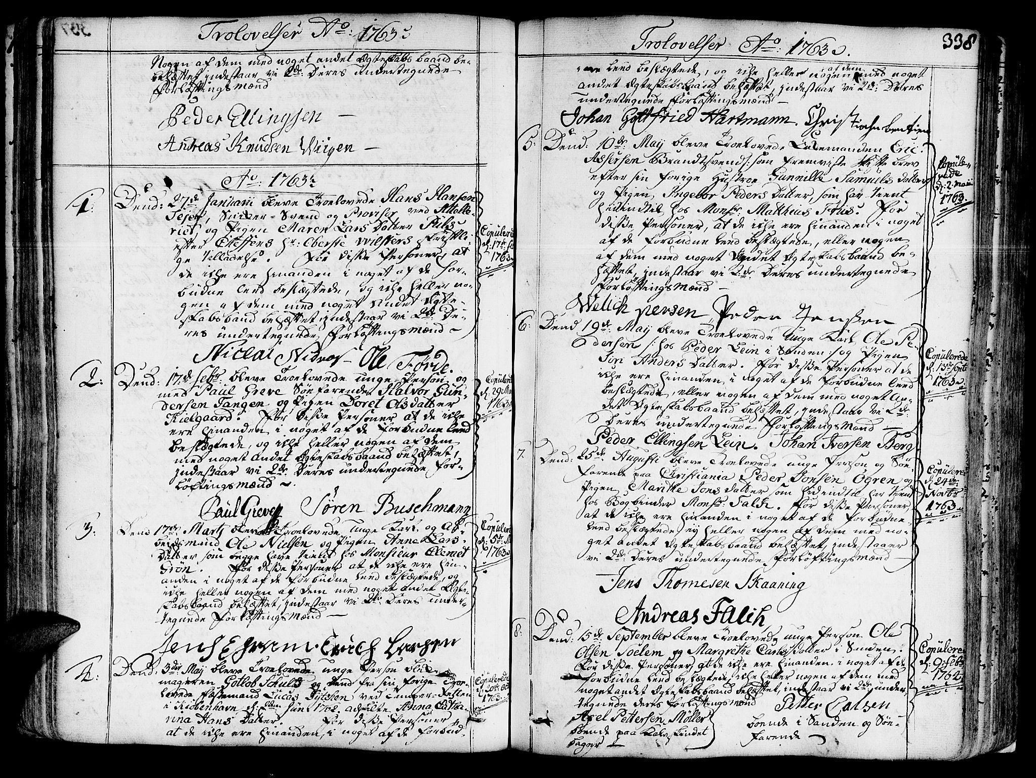 SAT, Ministerialprotokoller, klokkerbøker og fødselsregistre - Sør-Trøndelag, 602/L0103: Ministerialbok nr. 602A01, 1732-1774, s. 338