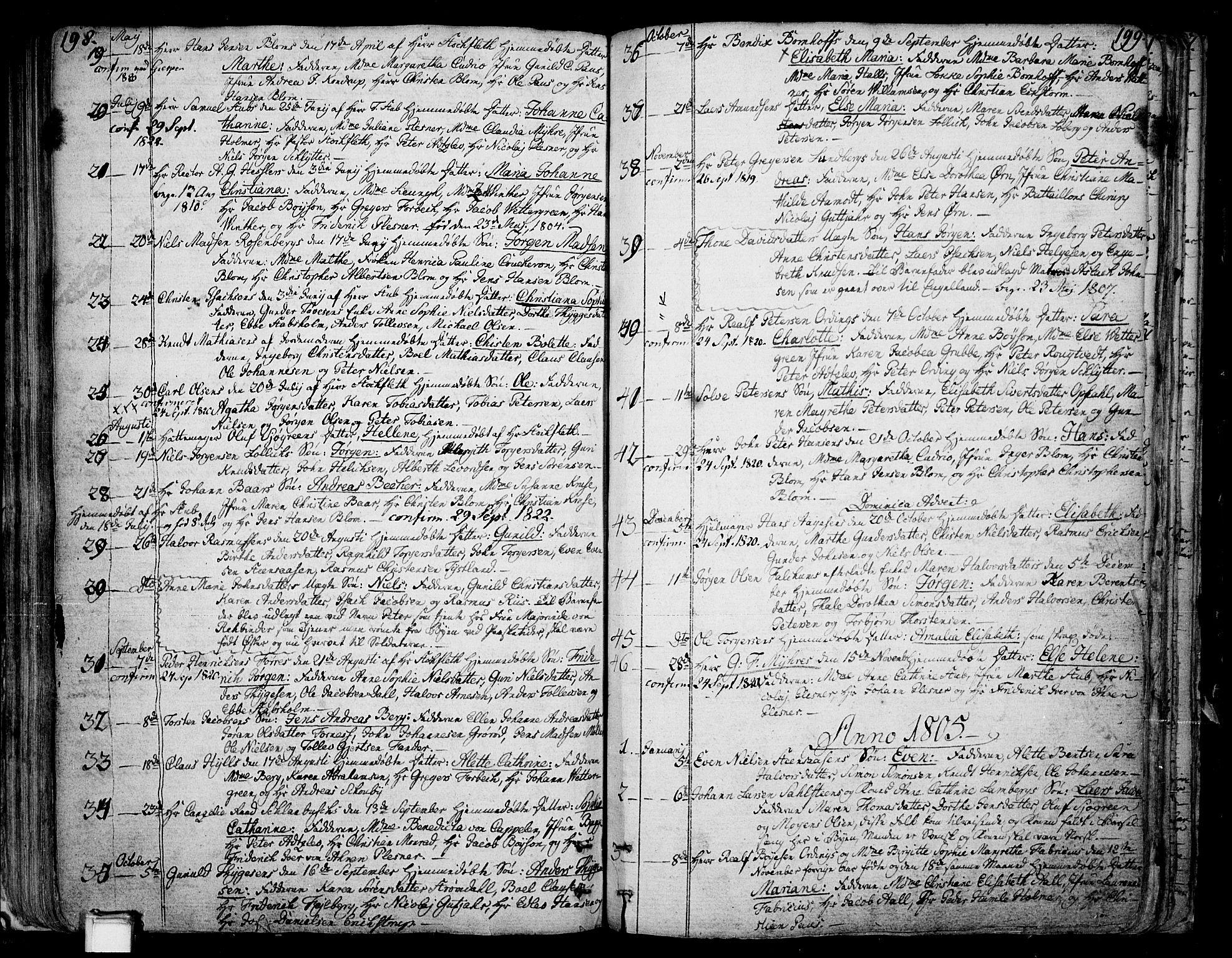 SAKO, Skien kirkebøker, F/Fa/L0004: Ministerialbok nr. 4, 1792-1814, s. 198-199