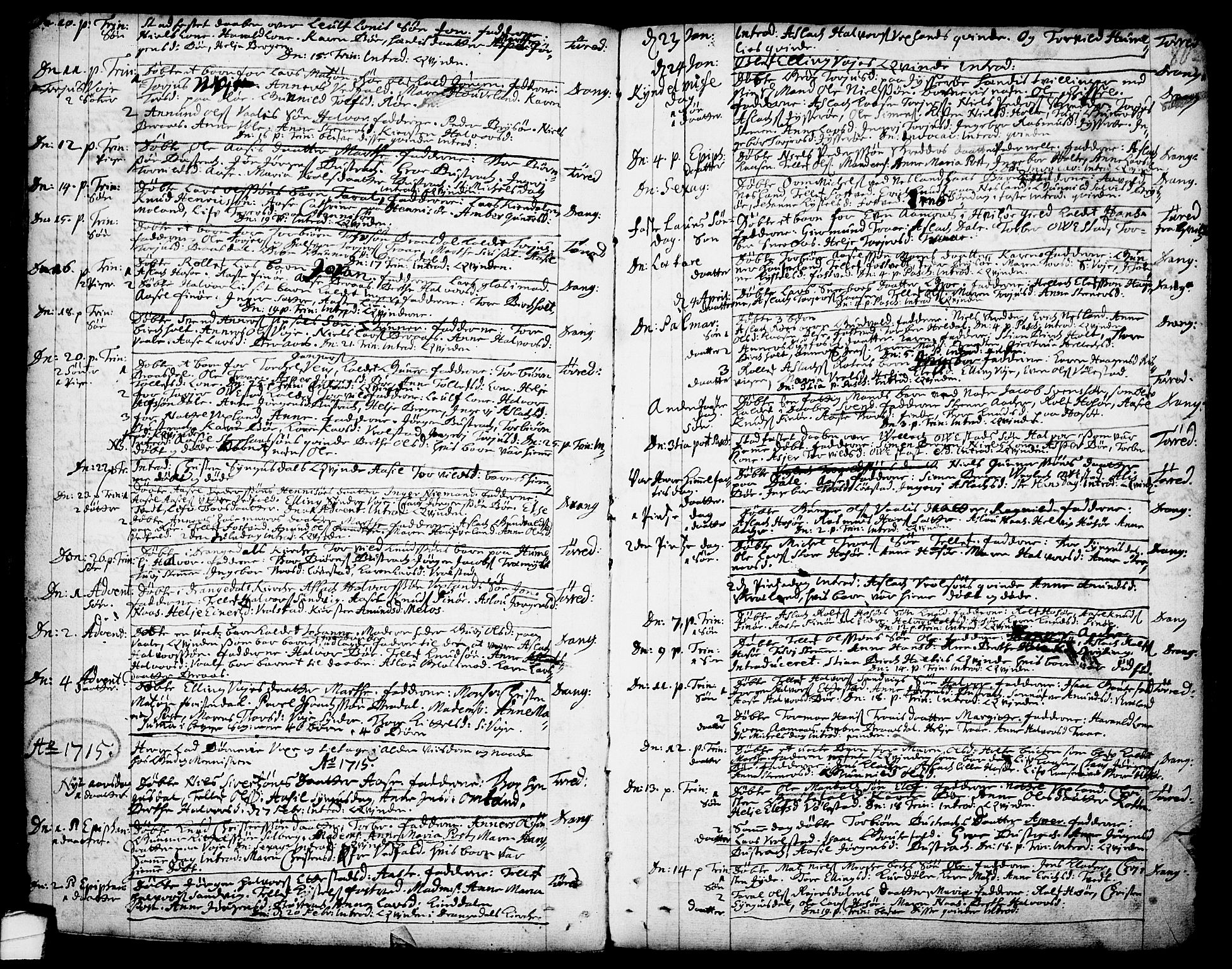 SAKO, Drangedal kirkebøker, F/Fa/L0001: Ministerialbok nr. 1, 1697-1767, s. 80