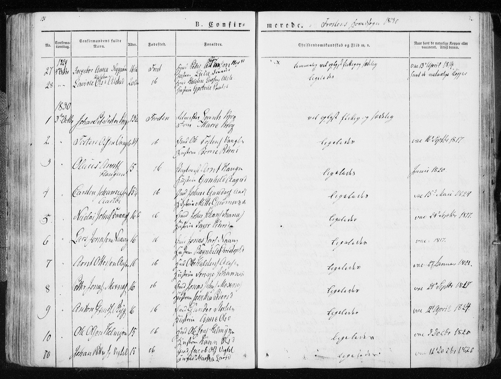 SAT, Ministerialprotokoller, klokkerbøker og fødselsregistre - Nord-Trøndelag, 713/L0114: Ministerialbok nr. 713A05, 1827-1839, s. 131