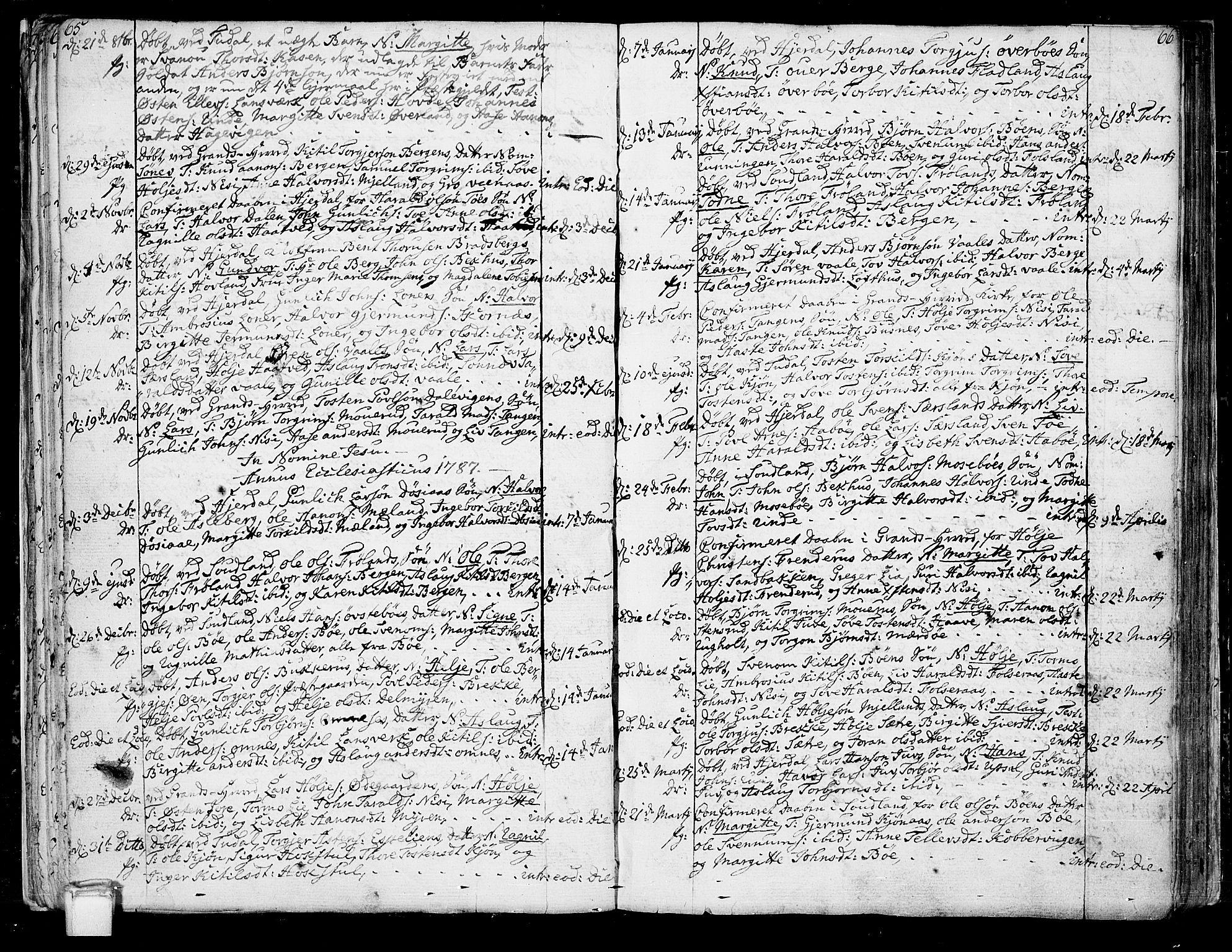 SAKO, Hjartdal kirkebøker, F/Fa/L0005: Ministerialbok nr. I 5, 1776-1801, s. 65-66