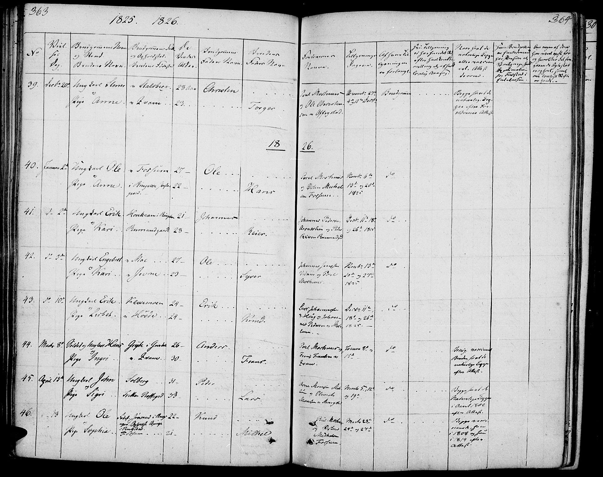 SAH, Øyer prestekontor, Ministerialbok nr. 4, 1824-1841, s. 363-364