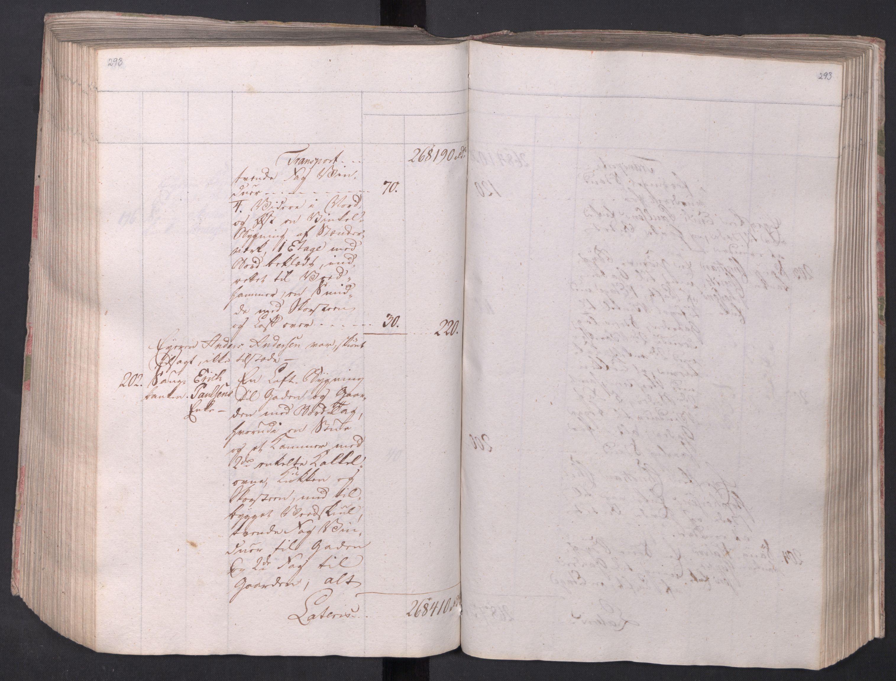 SAO, Kristiania stiftamt, I/Ia/L0015: Branntakster, 1797, s. 293