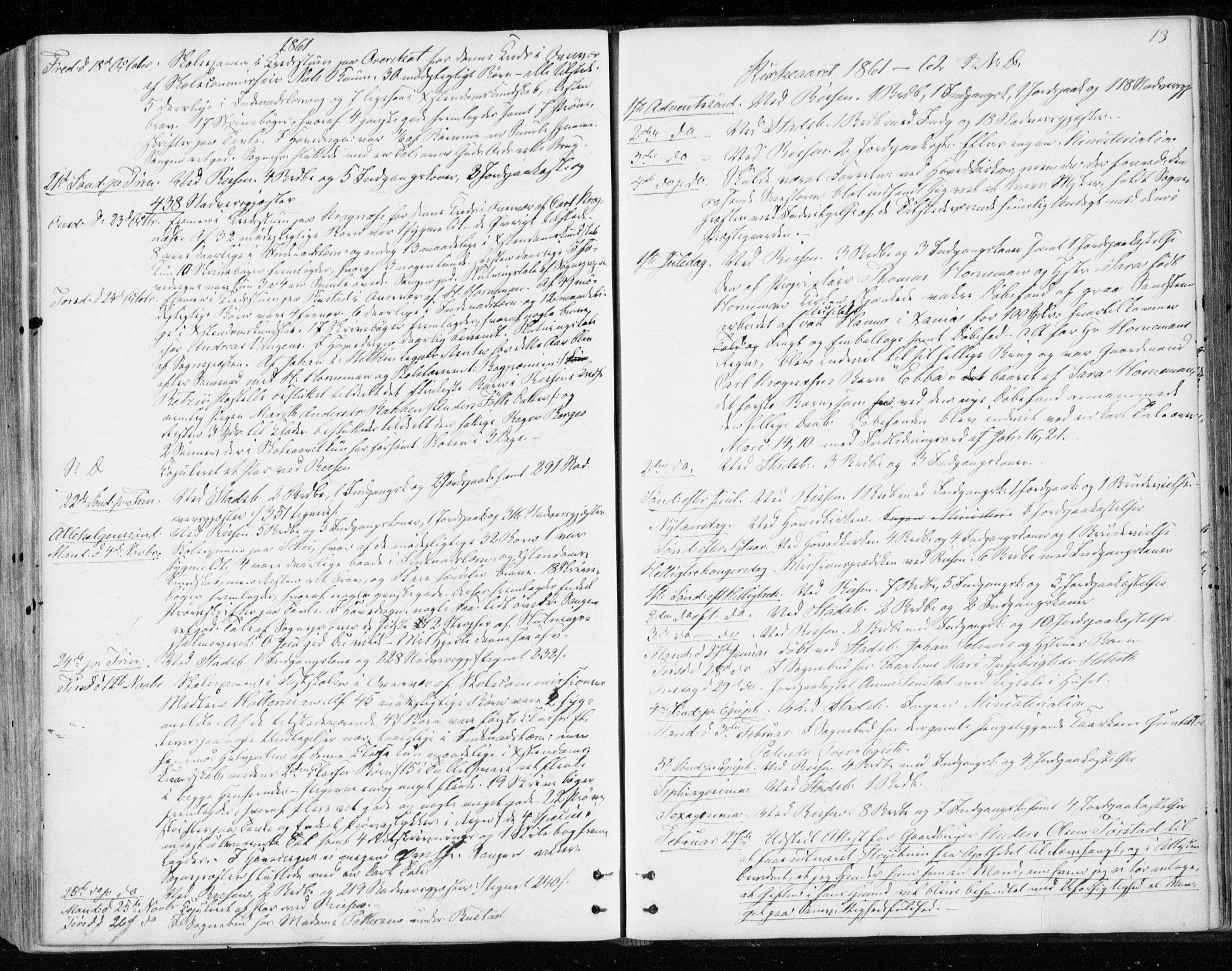 SAT, Ministerialprotokoller, klokkerbøker og fødselsregistre - Sør-Trøndelag, 646/L0612: Ministerialbok nr. 646A10, 1858-1869, s. 13