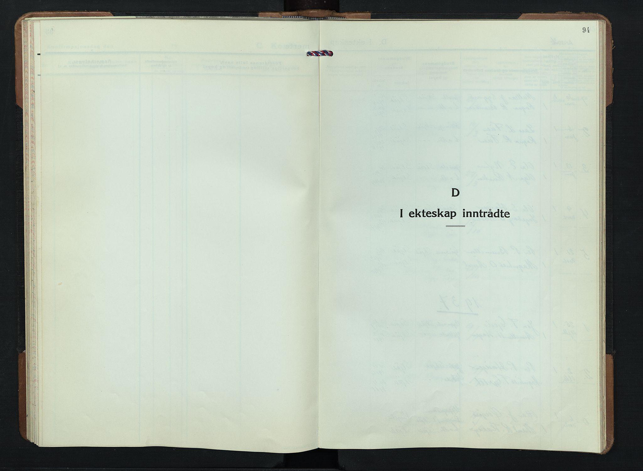 SAH, Skjåk prestekontor, Klokkerbok nr. 7, 1936-1958, s. 94