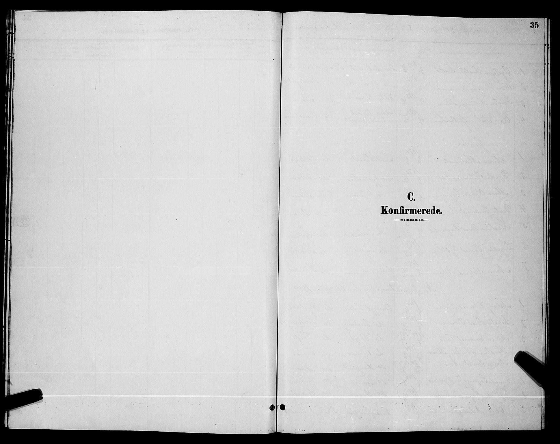 SAKO, Lunde kirkebøker, G/Gb/L0002: Klokkerbok nr. II 2, 1888-1895, s. 35