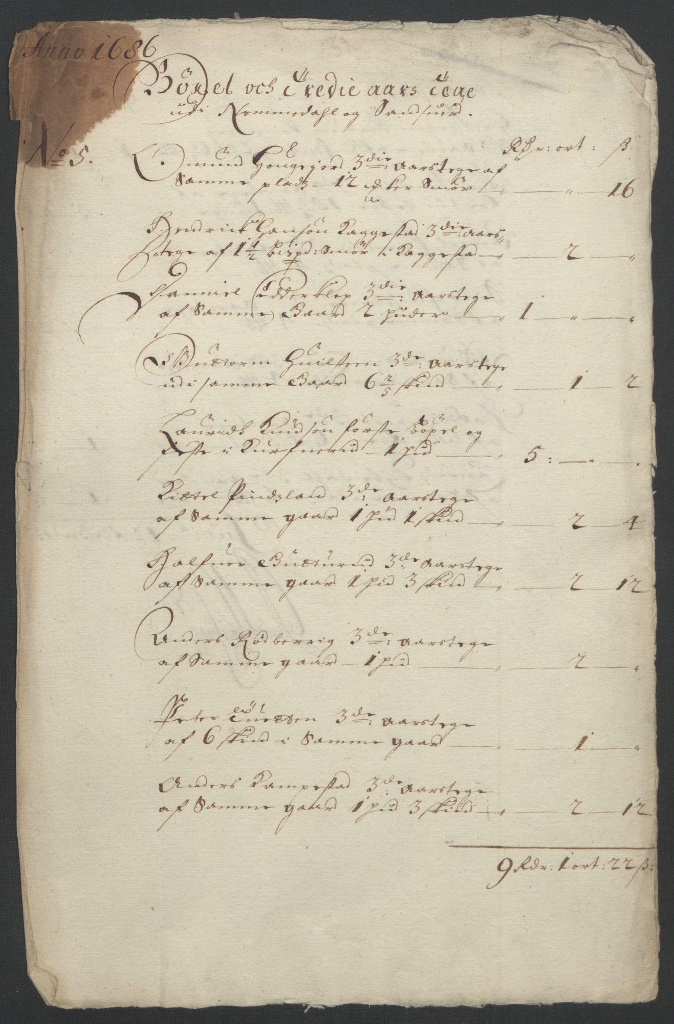 RA, Rentekammeret inntil 1814, Reviderte regnskaper, Fogderegnskap, R24/L1572: Fogderegnskap Numedal og Sandsvær, 1679-1686, s. 20