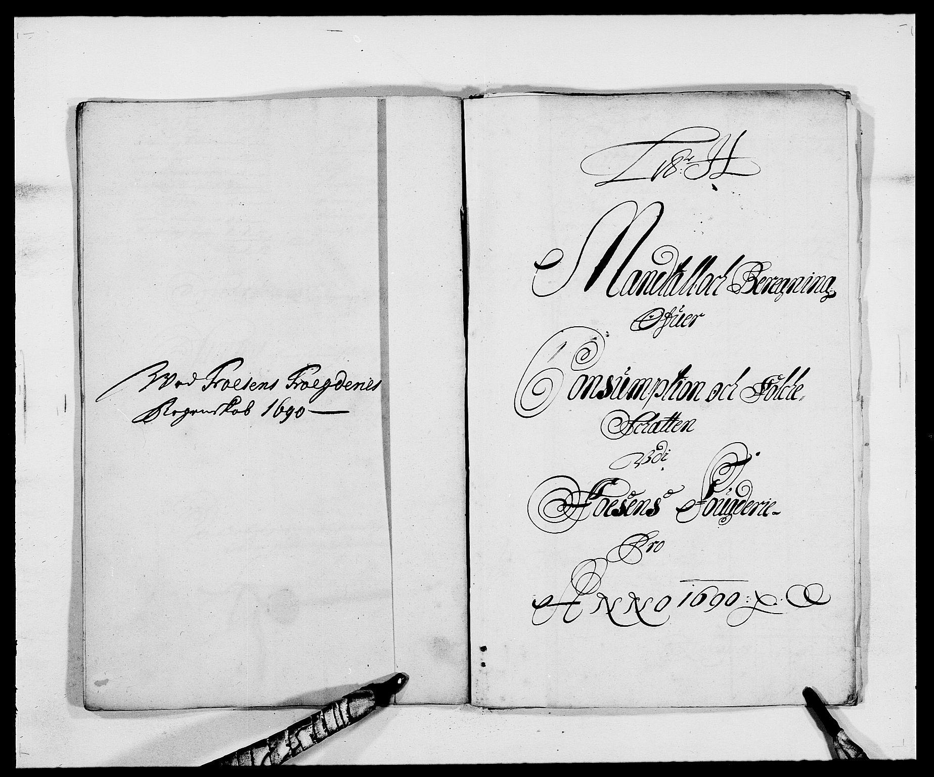 RA, Rentekammeret inntil 1814, Reviderte regnskaper, Fogderegnskap, R57/L3848: Fogderegnskap Fosen, 1690-1691, s. 119