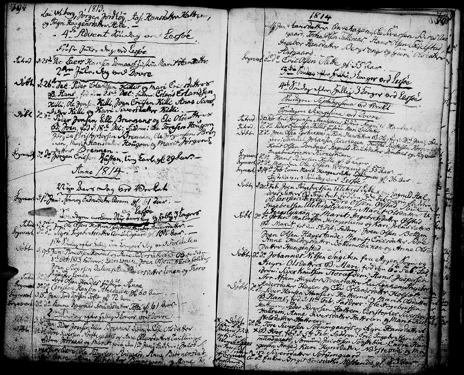 SAH, Lesja prestekontor, Ministerialbok nr. 3, 1777-1819, s. 794-795