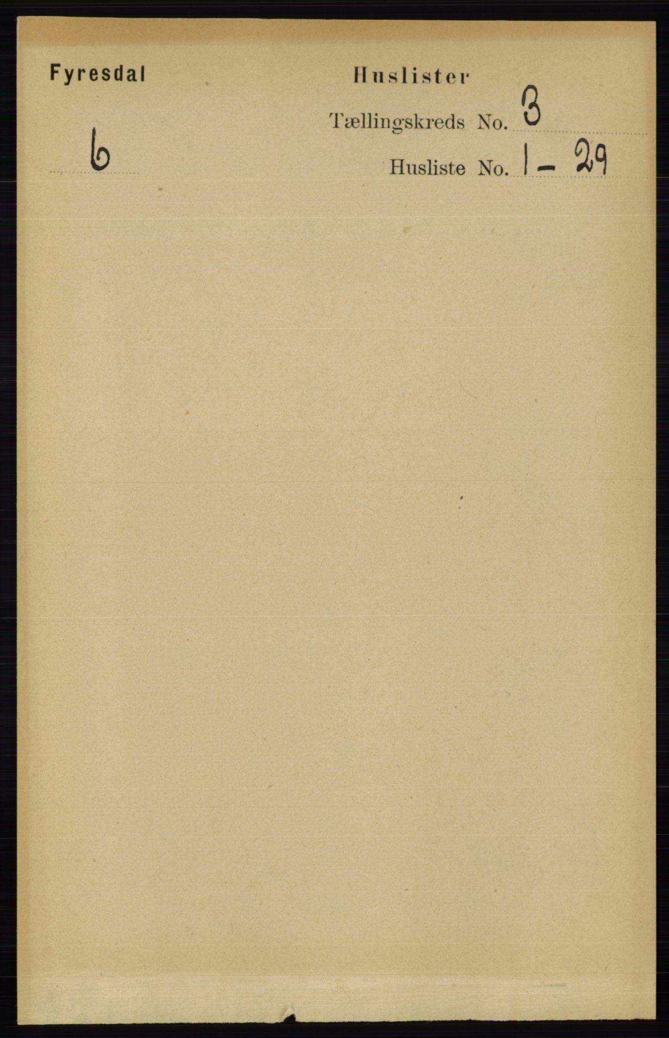 RA, Folketelling 1891 for 0831 Fyresdal herred, 1891, s. 534