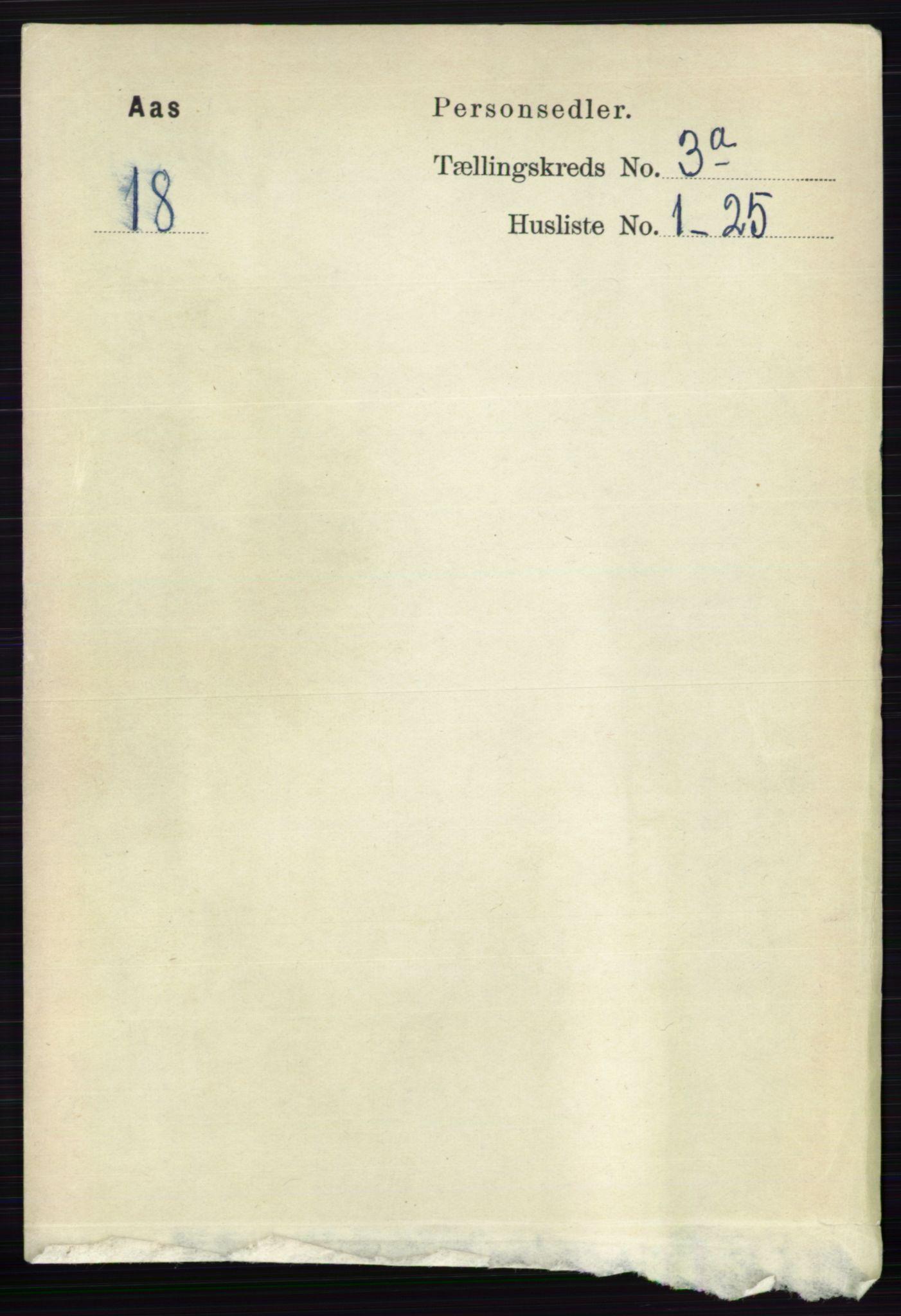 RA, Folketelling 1891 for 0214 Ås herred, 1891, s. 2127