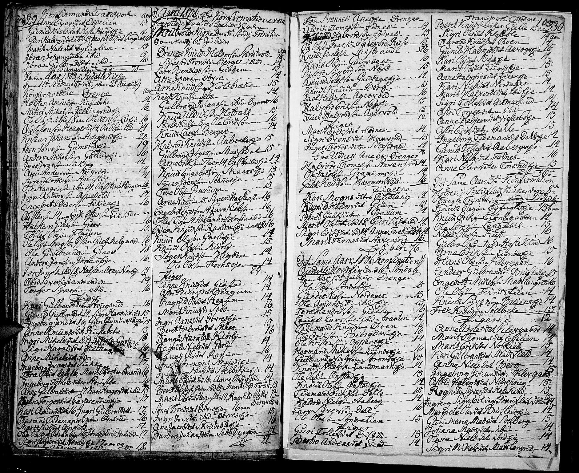 SAH, Aurdal prestekontor, Ministerialbok nr. 7, 1800-1808, s. 105