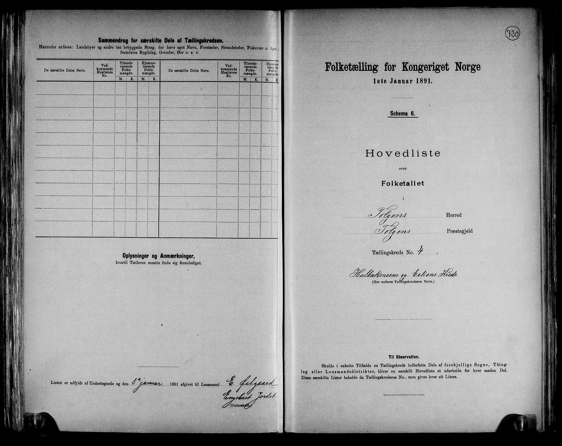 RA, Folketelling 1891 for 0436 Tolga herred, 1891, s. 15