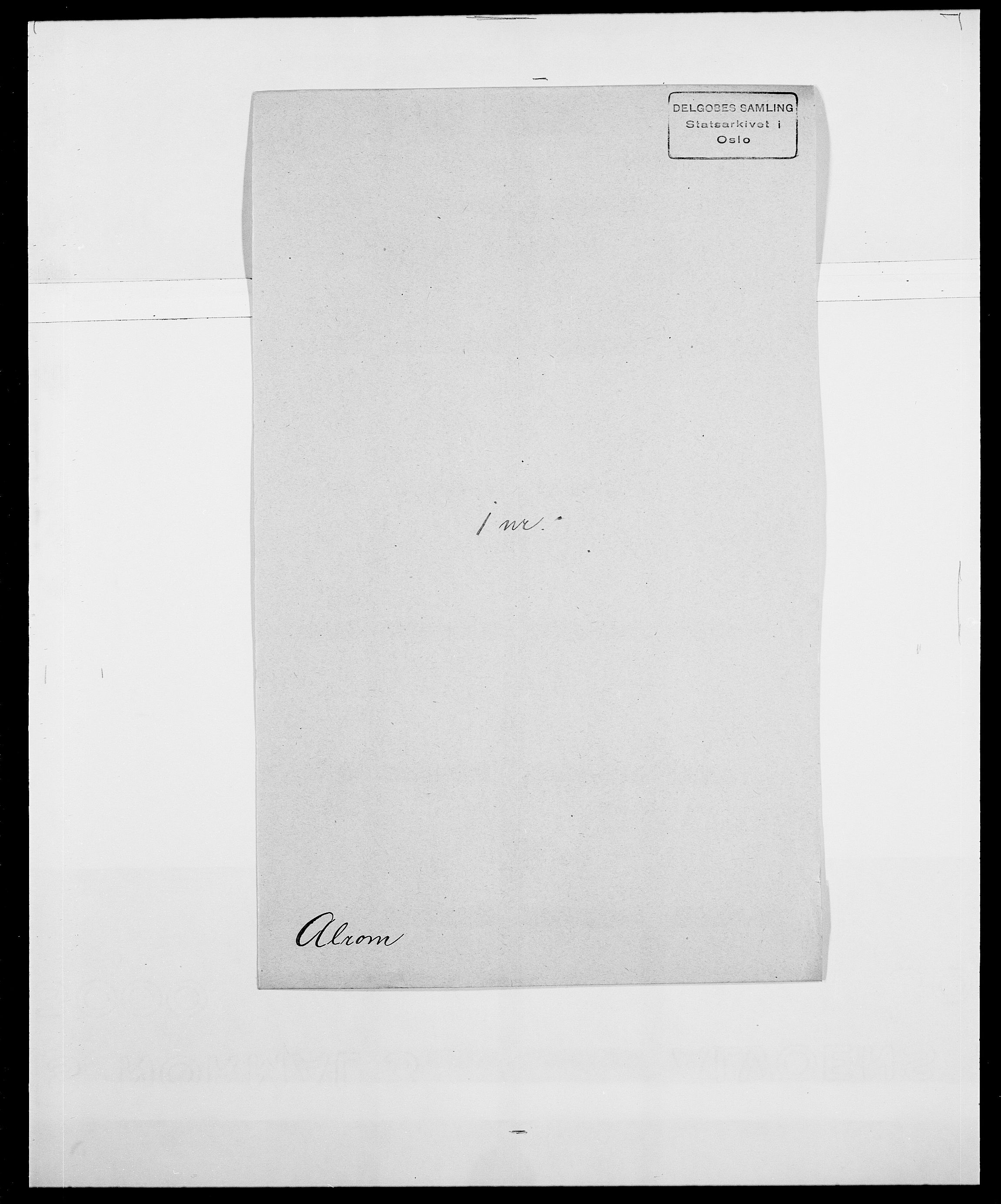 SAO, Delgobe, Charles Antoine - samling, D/Da/L0001: Aabye - Angerman, s. 450