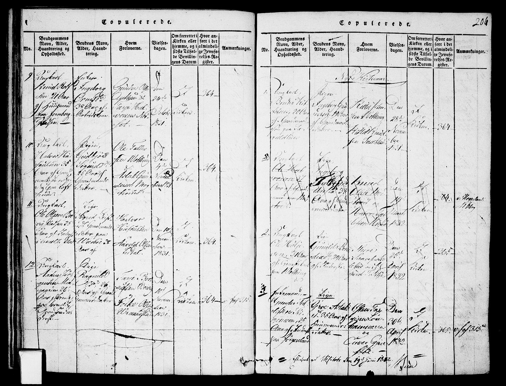 SAKO, Fyresdal kirkebøker, F/Fa/L0003: Ministerialbok nr. I 3, 1815-1840, s. 206