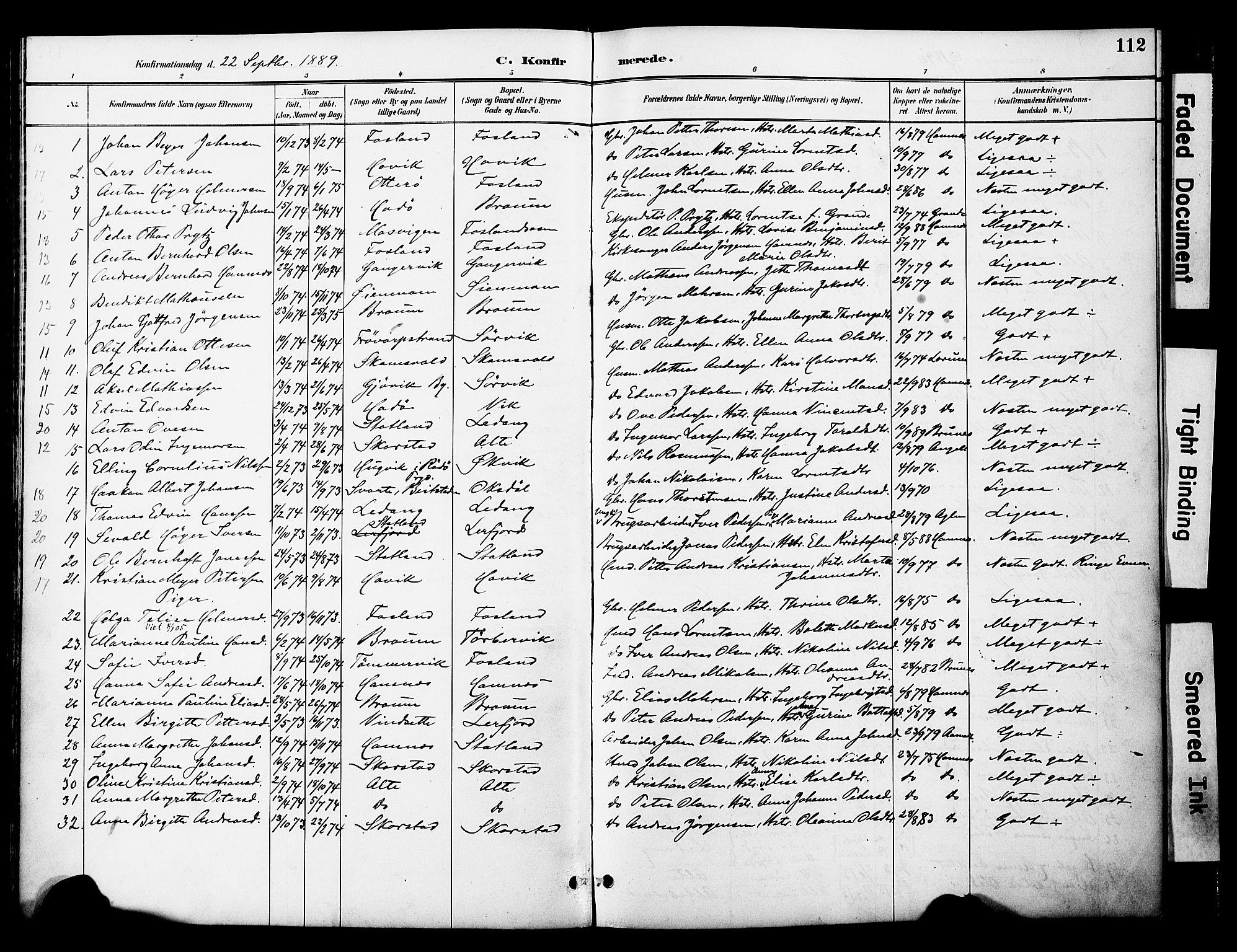 SAT, Ministerialprotokoller, klokkerbøker og fødselsregistre - Nord-Trøndelag, 774/L0628: Ministerialbok nr. 774A02, 1887-1903, s. 112