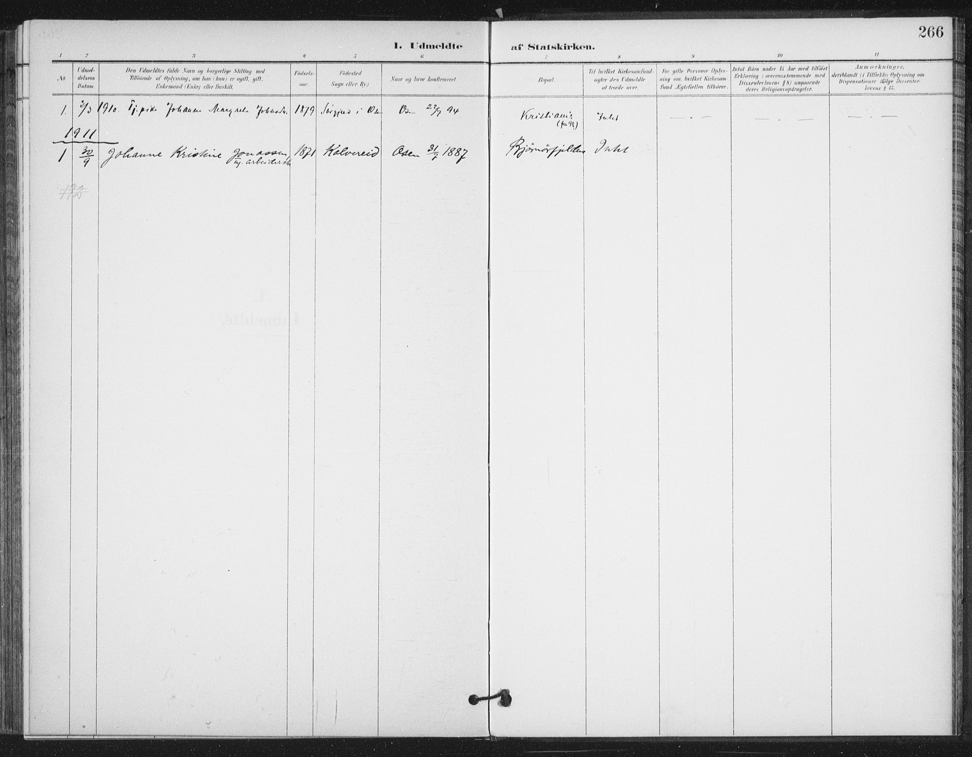 SAT, Ministerialprotokoller, klokkerbøker og fødselsregistre - Sør-Trøndelag, 658/L0723: Ministerialbok nr. 658A02, 1897-1912, s. 266