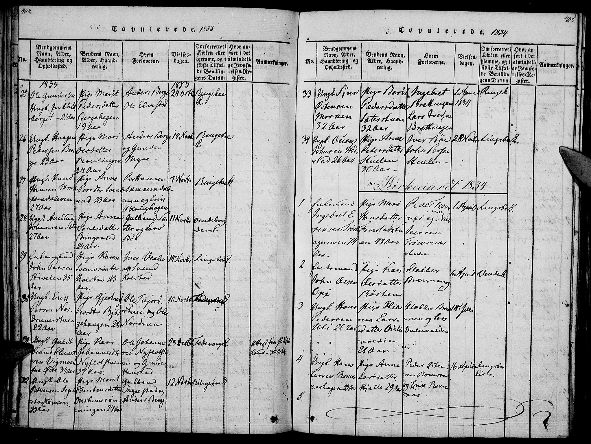 SAH, Ringebu prestekontor, Ministerialbok nr. 4, 1821-1839, s. 404-405