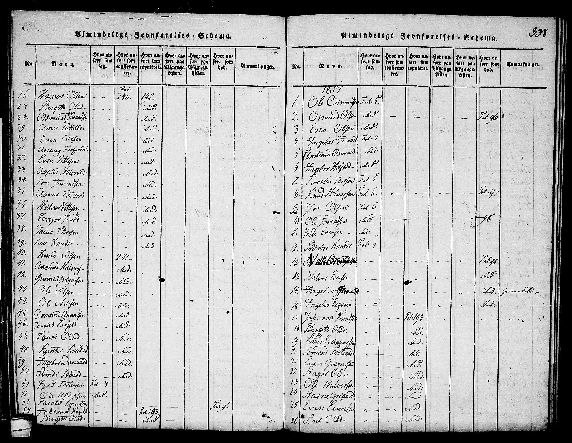 SAKO, Seljord kirkebøker, F/Fc/L0001: Ministerialbok nr. III 1, 1815-1831, s. 338