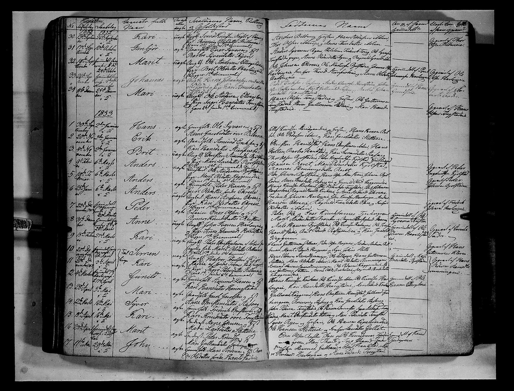 SAH, Vågå prestekontor, Ministerialbok nr. 5 /2, 1842-1856, s. 240