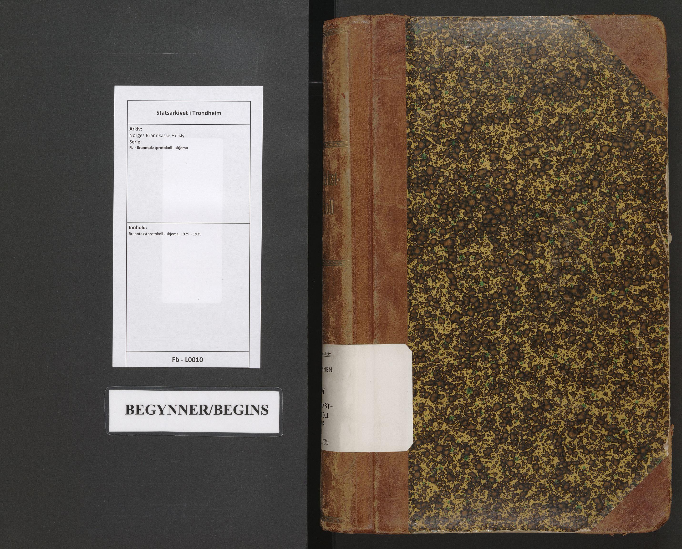 SAT, Norges Brannkasse Herøy, Fb/L0010: Branntakstprotokoll - skjema, 1929-1935