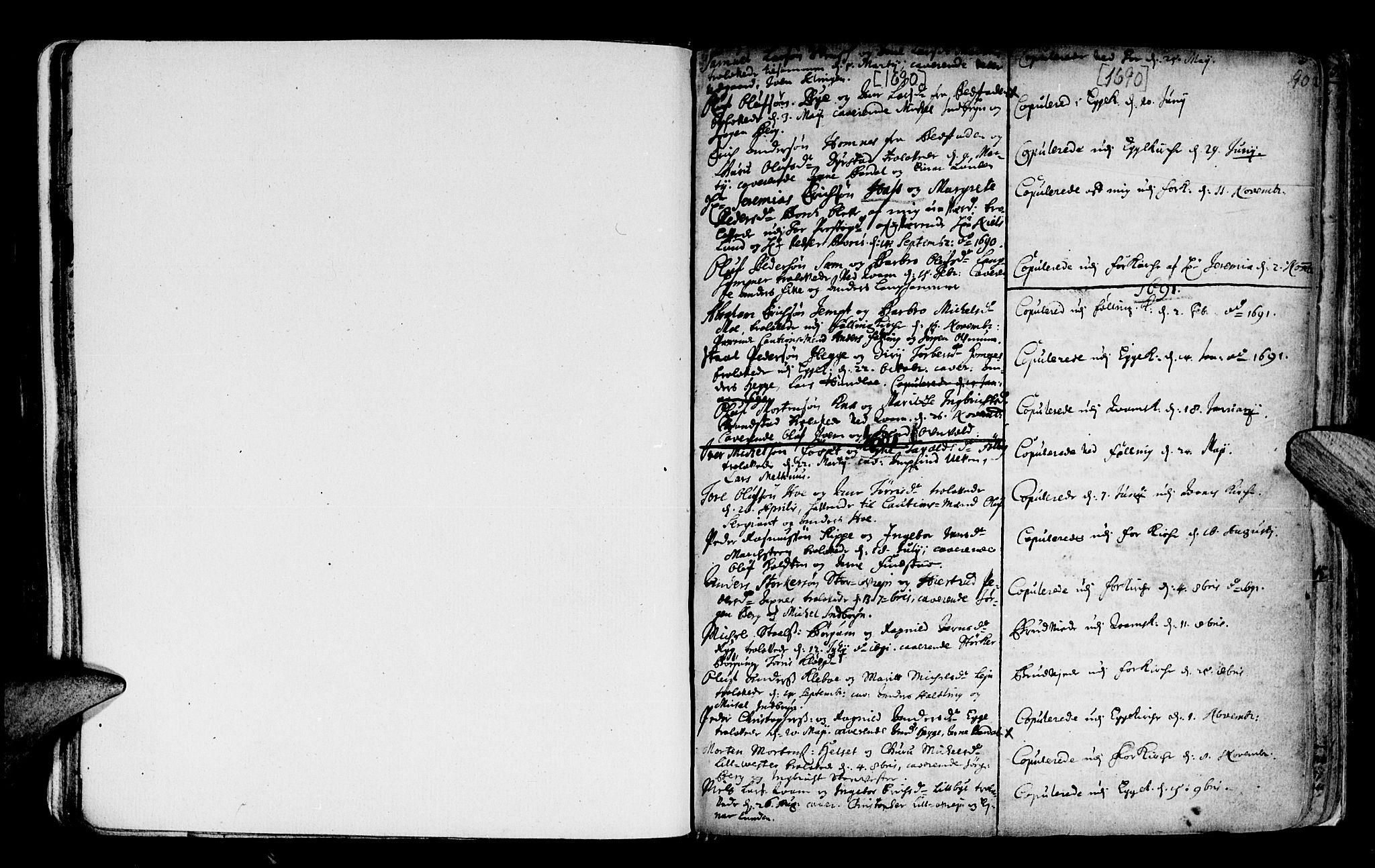 SAT, Ministerialprotokoller, klokkerbøker og fødselsregistre - Nord-Trøndelag, 746/L0439: Ministerialbok nr. 746A01, 1688-1759, s. 90