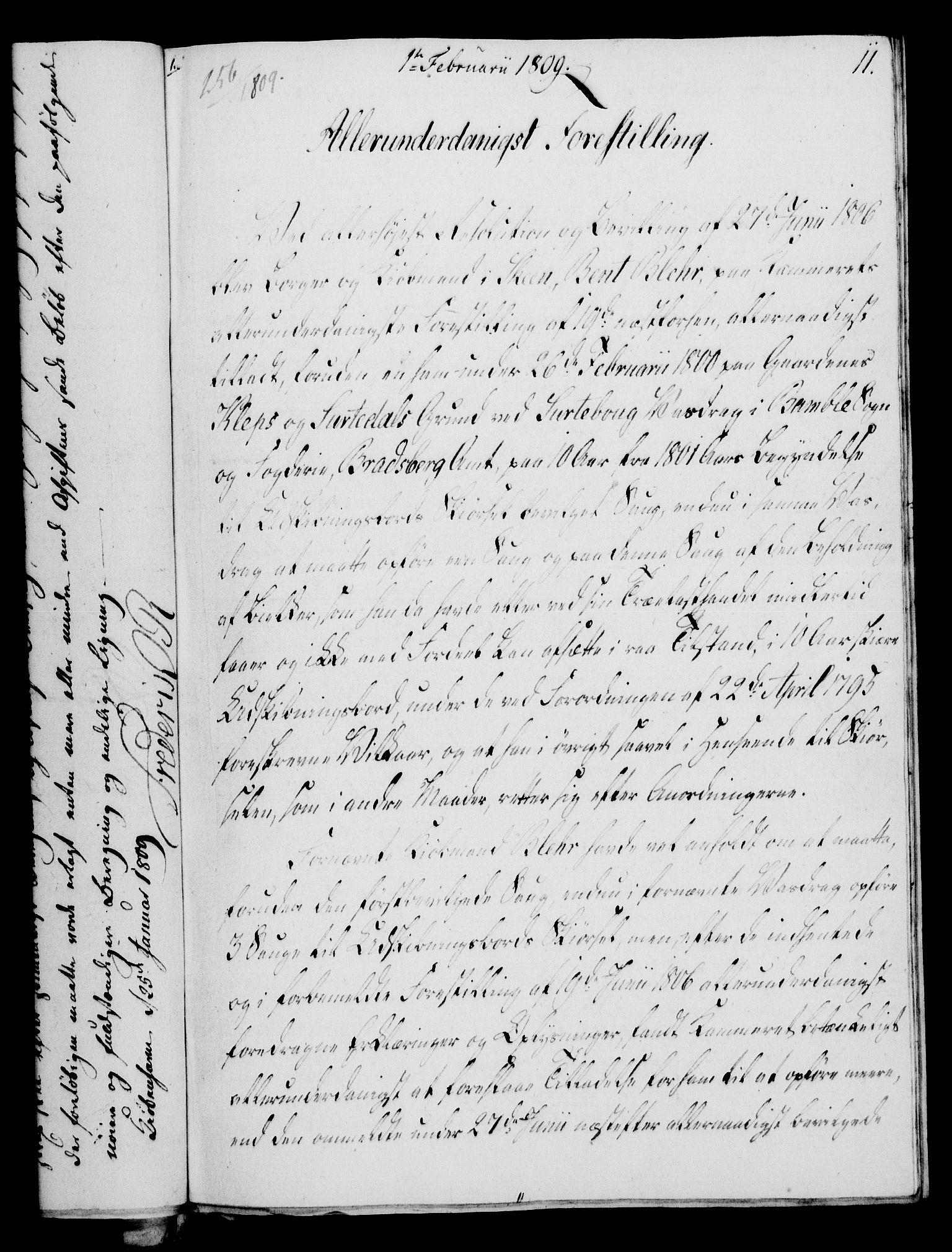 RA, Rentekammeret, Kammerkanselliet, G/Gf/Gfa/L0091: Norsk relasjons- og resolusjonsprotokoll (merket RK 52.91), 1809, s. 74