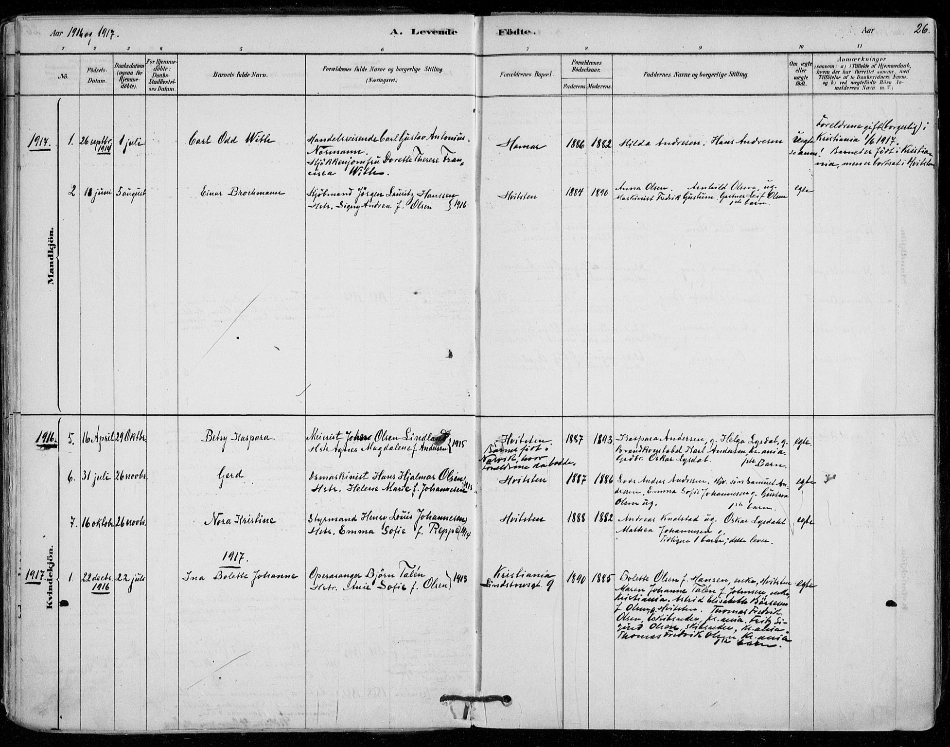 SAO, Vestby prestekontor Kirkebøker, F/Fd/L0001: Ministerialbok nr. IV 1, 1878-1945, s. 26