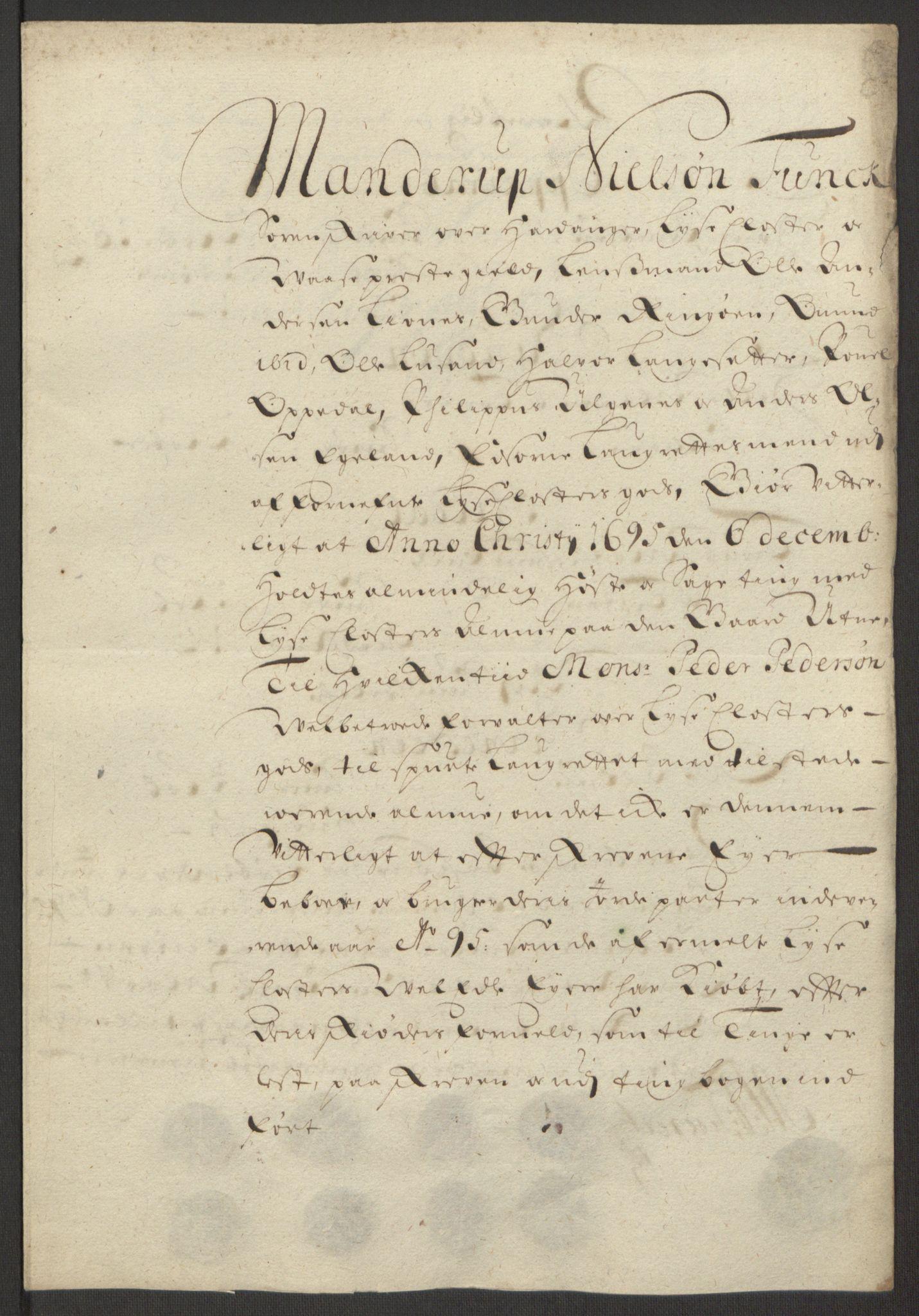 RA, Rentekammeret inntil 1814, Reviderte regnskaper, Fogderegnskap, R50/L3159: Fogderegnskap Lyse kloster, 1691-1709, s. 45