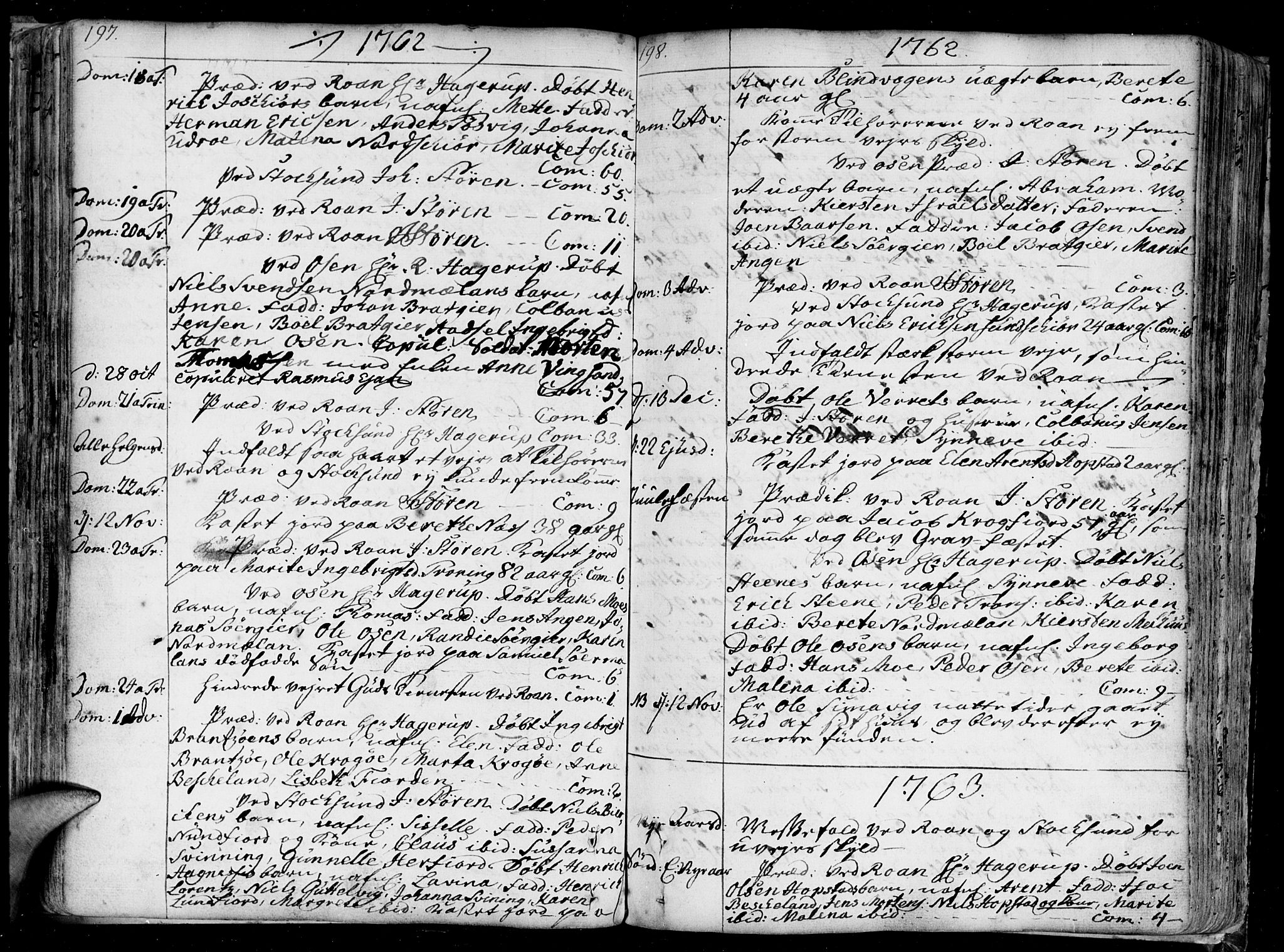 SAT, Ministerialprotokoller, klokkerbøker og fødselsregistre - Sør-Trøndelag, 657/L0700: Ministerialbok nr. 657A01, 1732-1801, s. 197-198