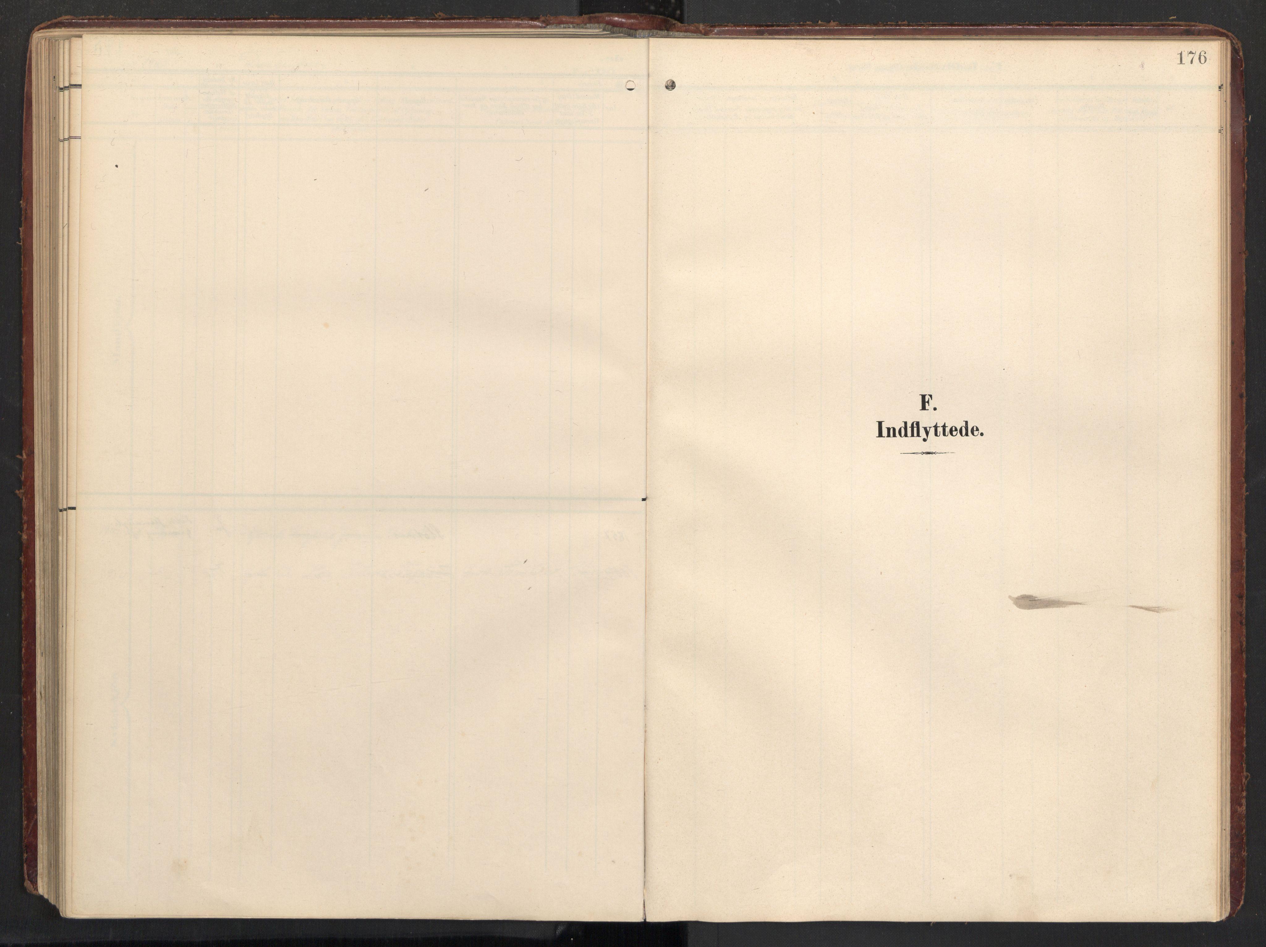 SAT, Ministerialprotokoller, klokkerbøker og fødselsregistre - Nordland, 890/L1287: Ministerialbok nr. 890A02, 1903-1915, s. 176