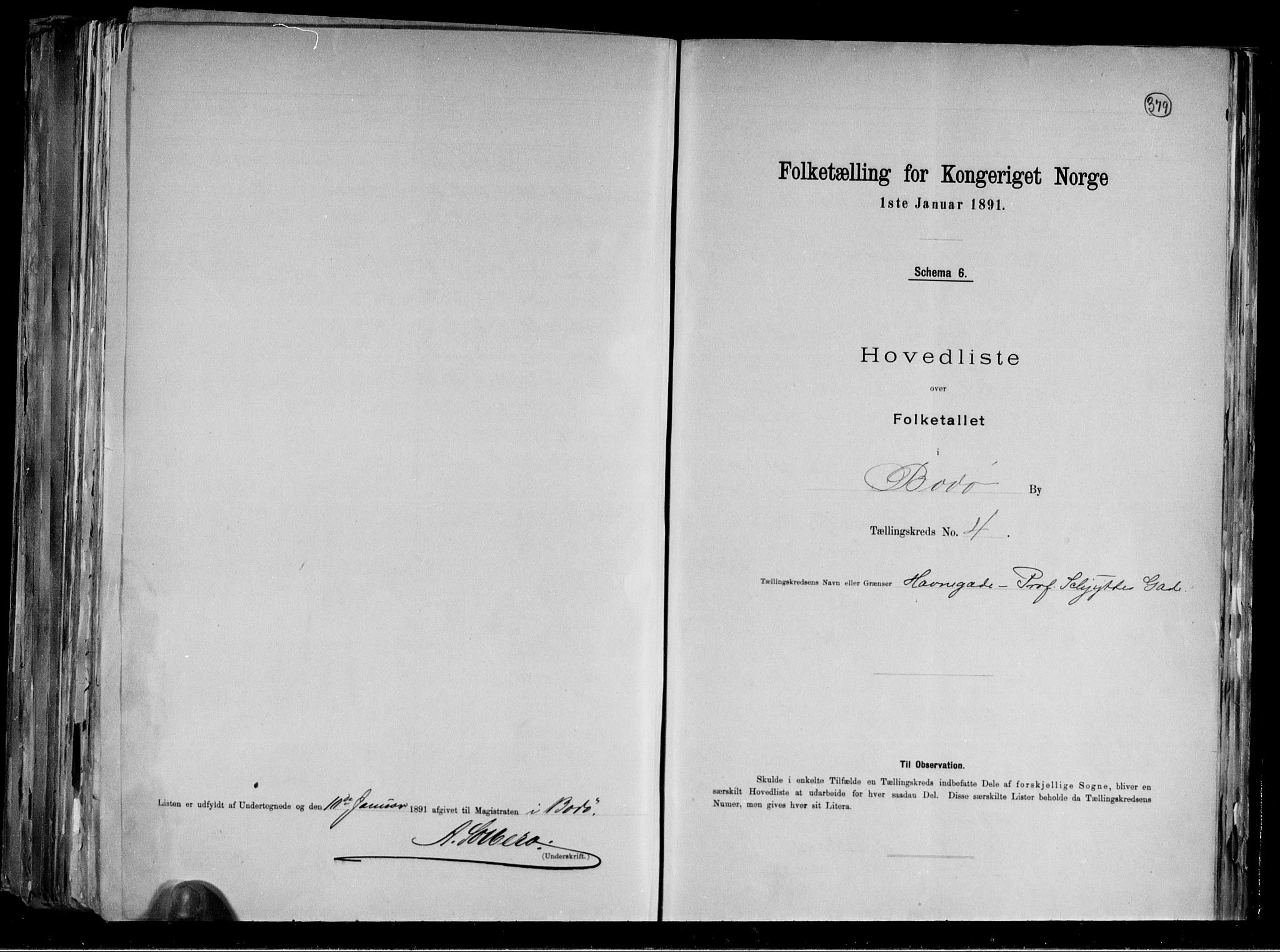 RA, Folketelling 1891 for 1804 Bodø kjøpstad, 1891, s. 12