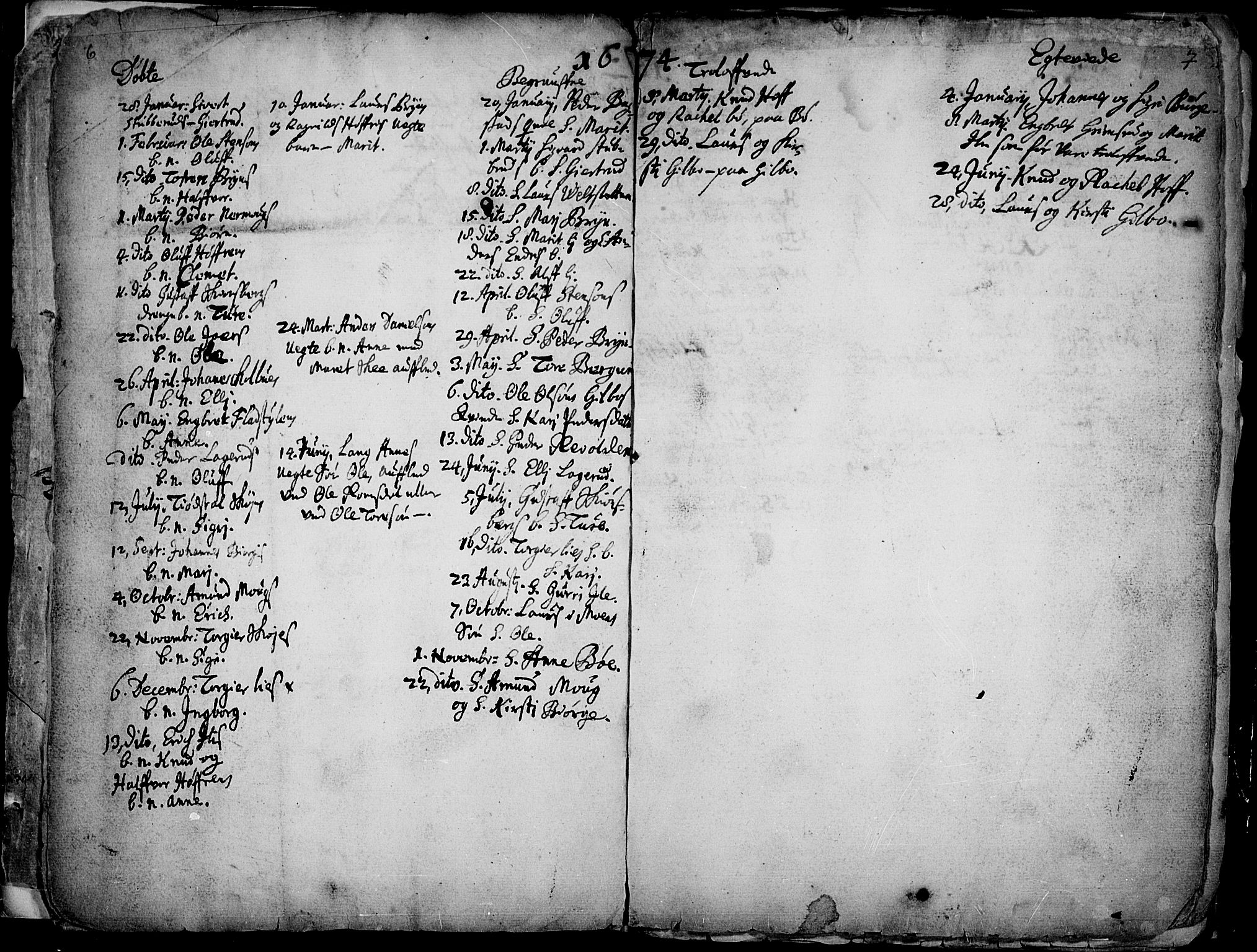 SAH, Øyer prestekontor, Ministerialbok nr. 1, 1671-1727, s. 6-7