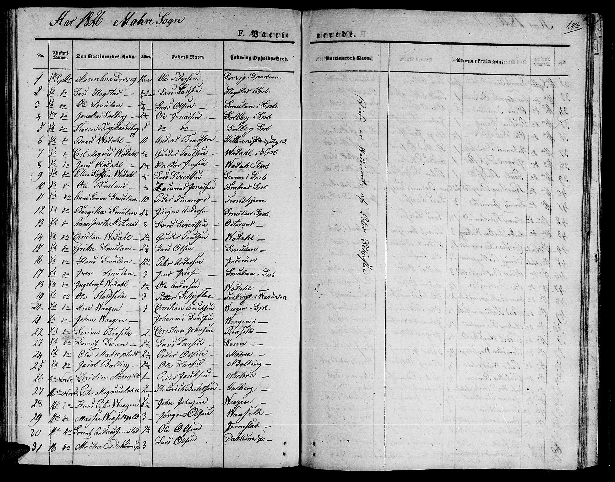 SAT, Ministerialprotokoller, klokkerbøker og fødselsregistre - Nord-Trøndelag, 735/L0336: Ministerialbok nr. 735A05 /1, 1825-1835, s. 292