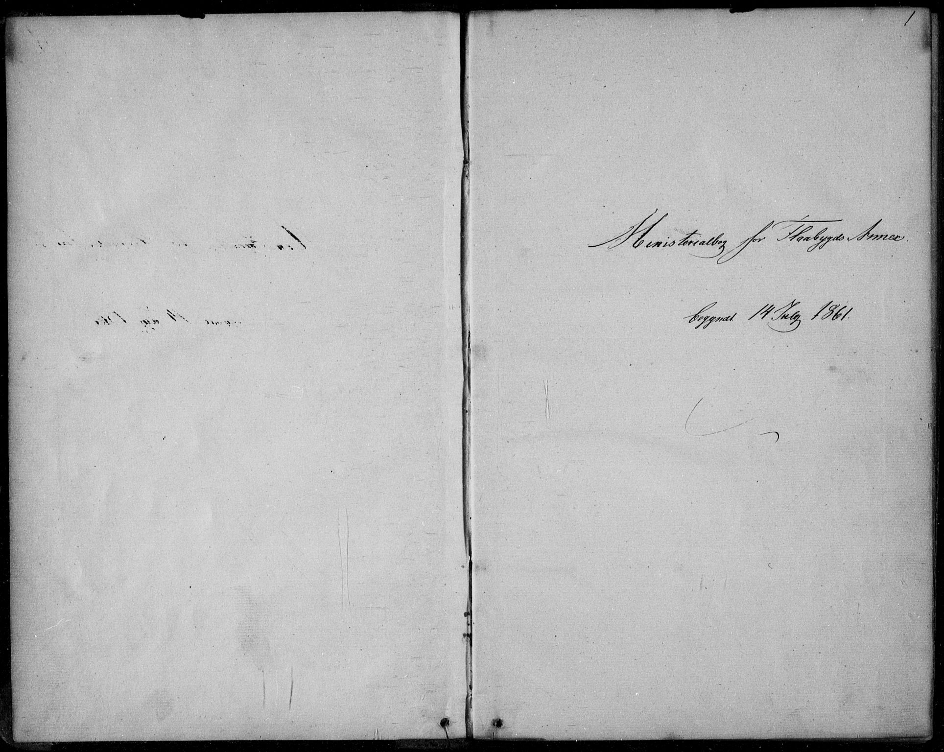 SAKO, Lunde kirkebøker, F/Fb/L0002: Ministerialbok nr. II 2, 1861-1881, s. 1