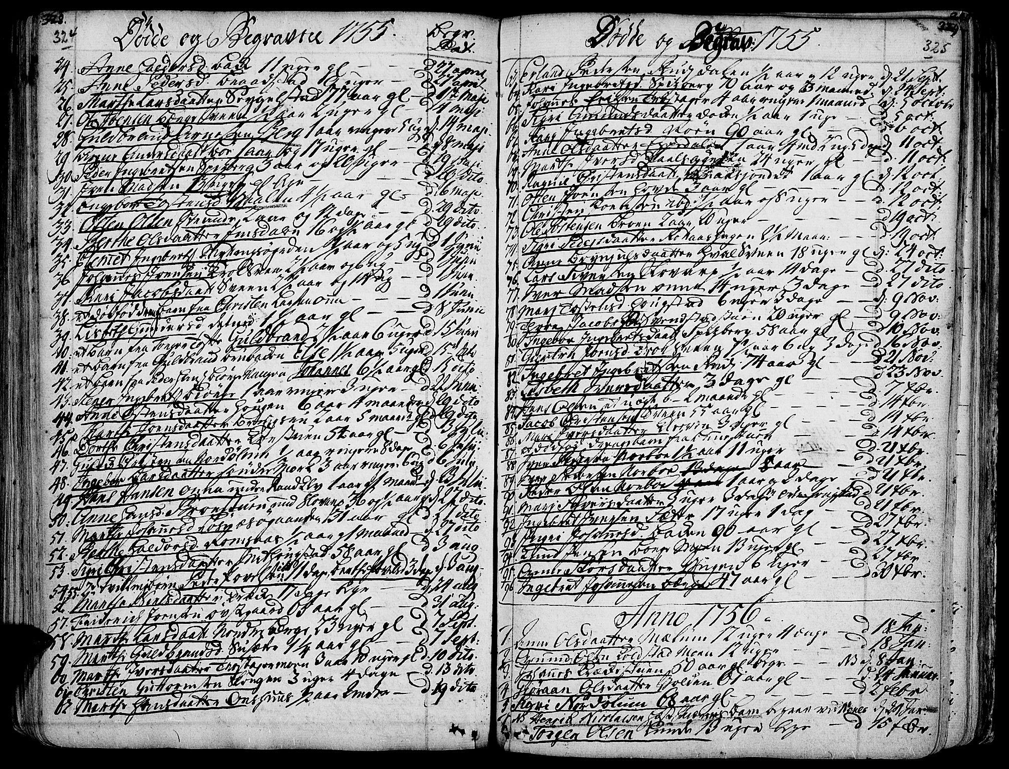 SAH, Ringebu prestekontor, Ministerialbok nr. 2, 1734-1780, s. 324-325