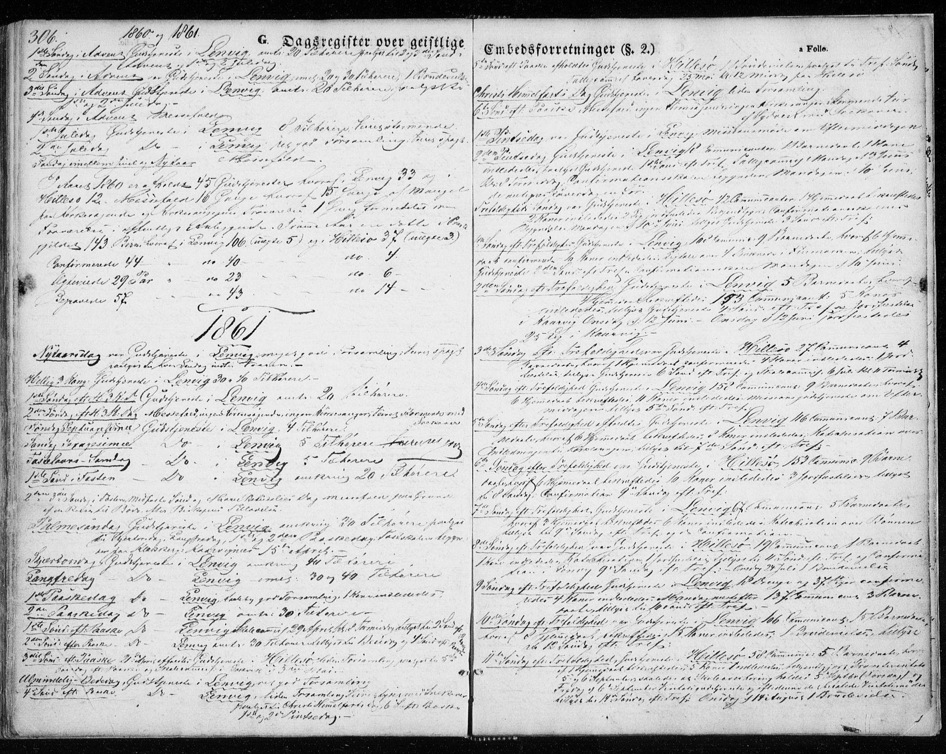 SATØ, Lenvik sokneprestembete, H/Ha: Ministerialbok nr. 7, 1855-1865, s. 306