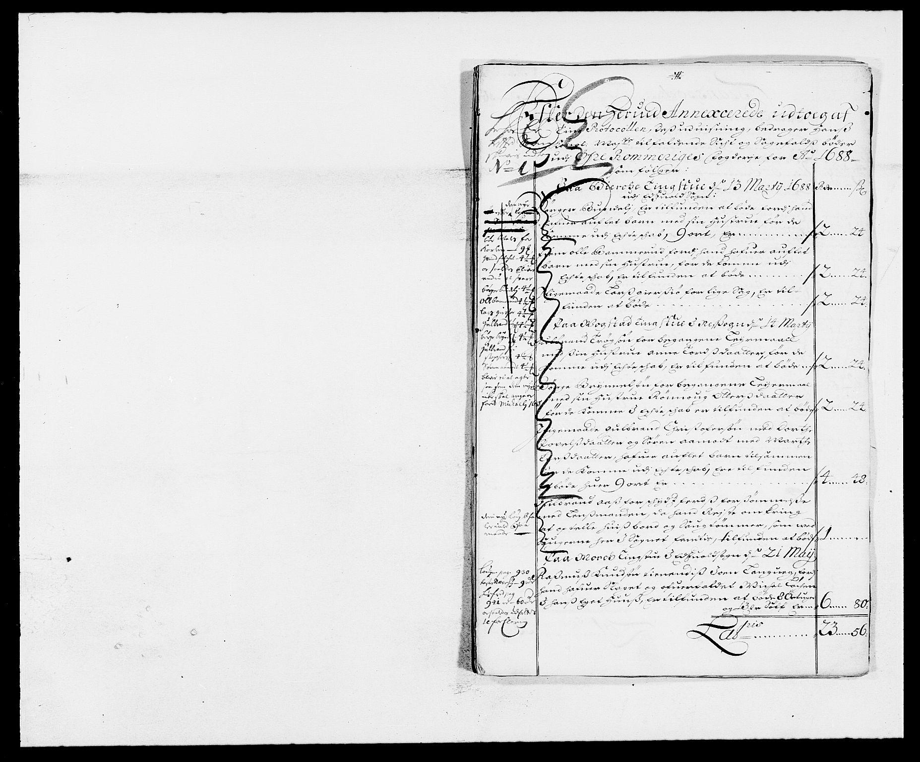RA, Rentekammeret inntil 1814, Reviderte regnskaper, Fogderegnskap, R12/L0700: Fogderegnskap Øvre Romerike, 1687-1688, s. 298