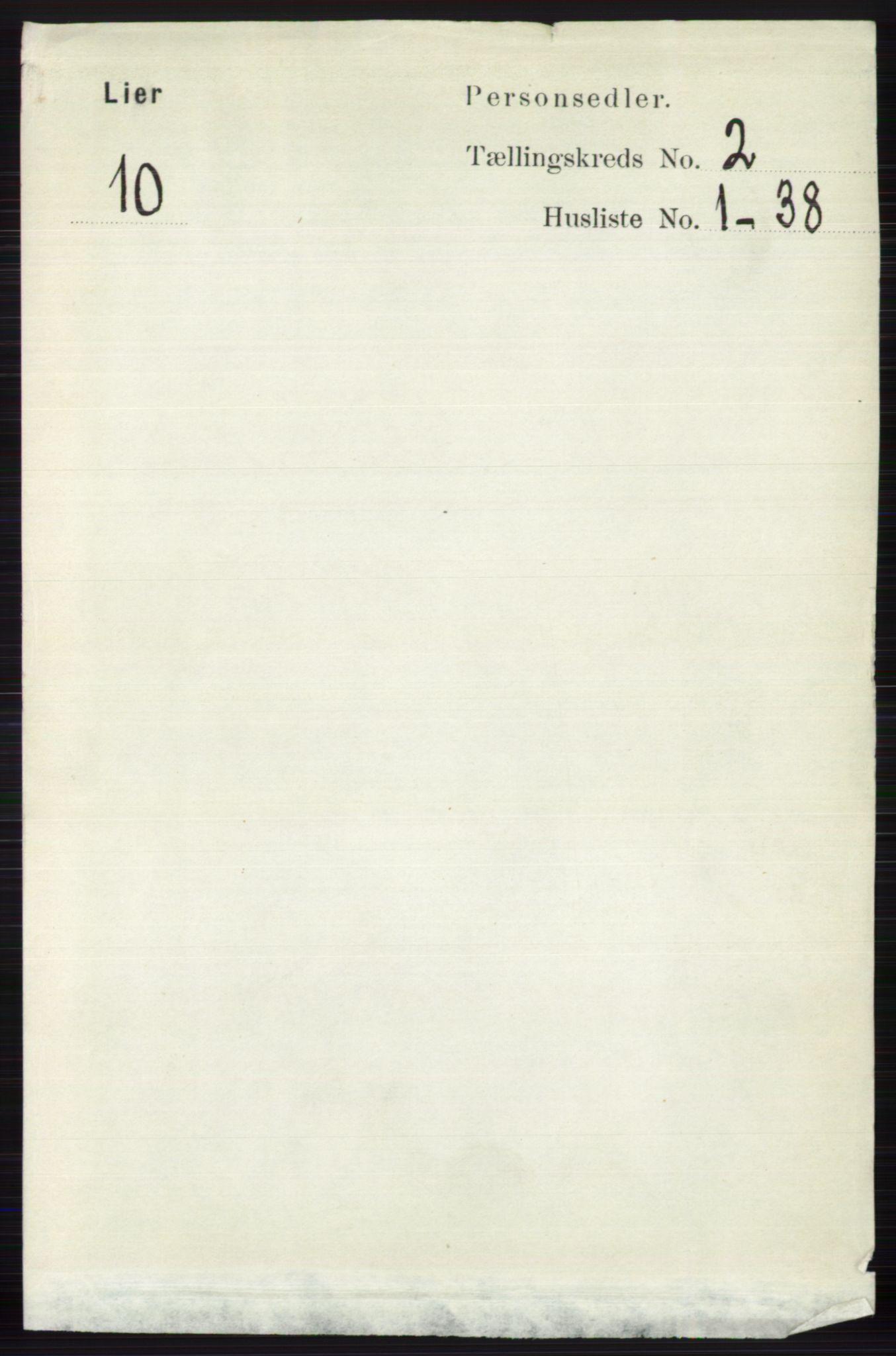 RA, Folketelling 1891 for 0626 Lier herred, 1891, s. 1575