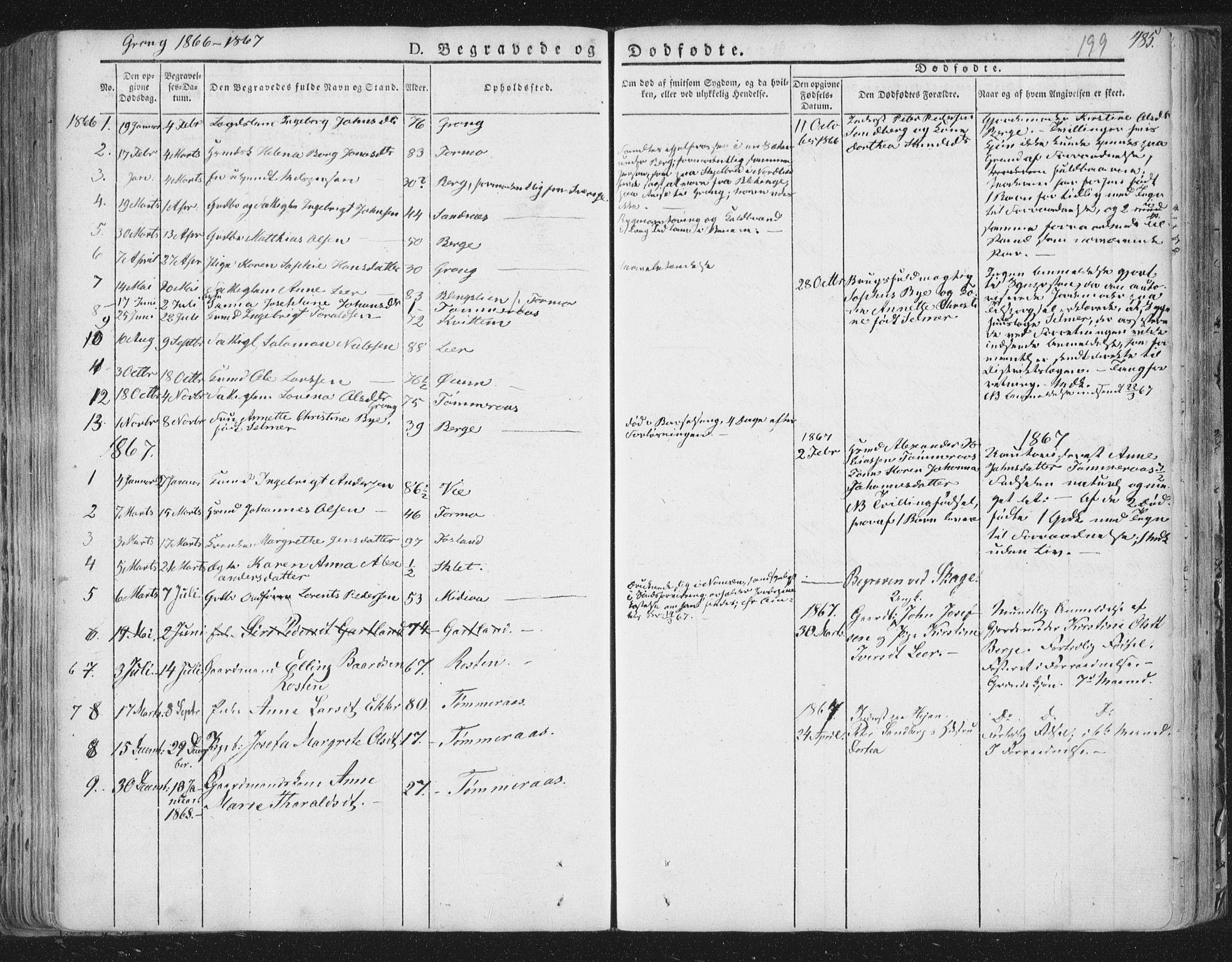 SAT, Ministerialprotokoller, klokkerbøker og fødselsregistre - Nord-Trøndelag, 758/L0513: Ministerialbok nr. 758A02 /1, 1839-1868, s. 199