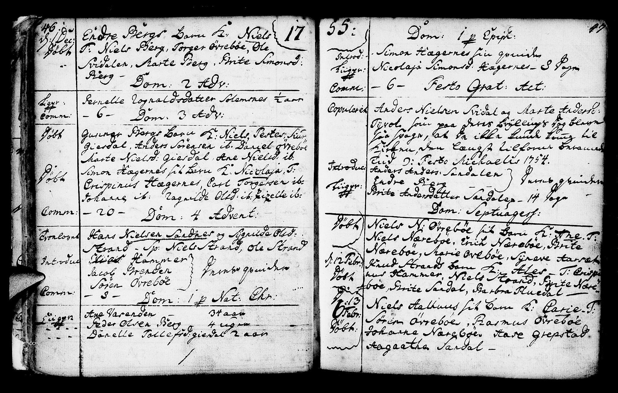 SAB, Jølster Sokneprestembete, Ministerialbok nr. A 3, 1748-1789, s. 46-47